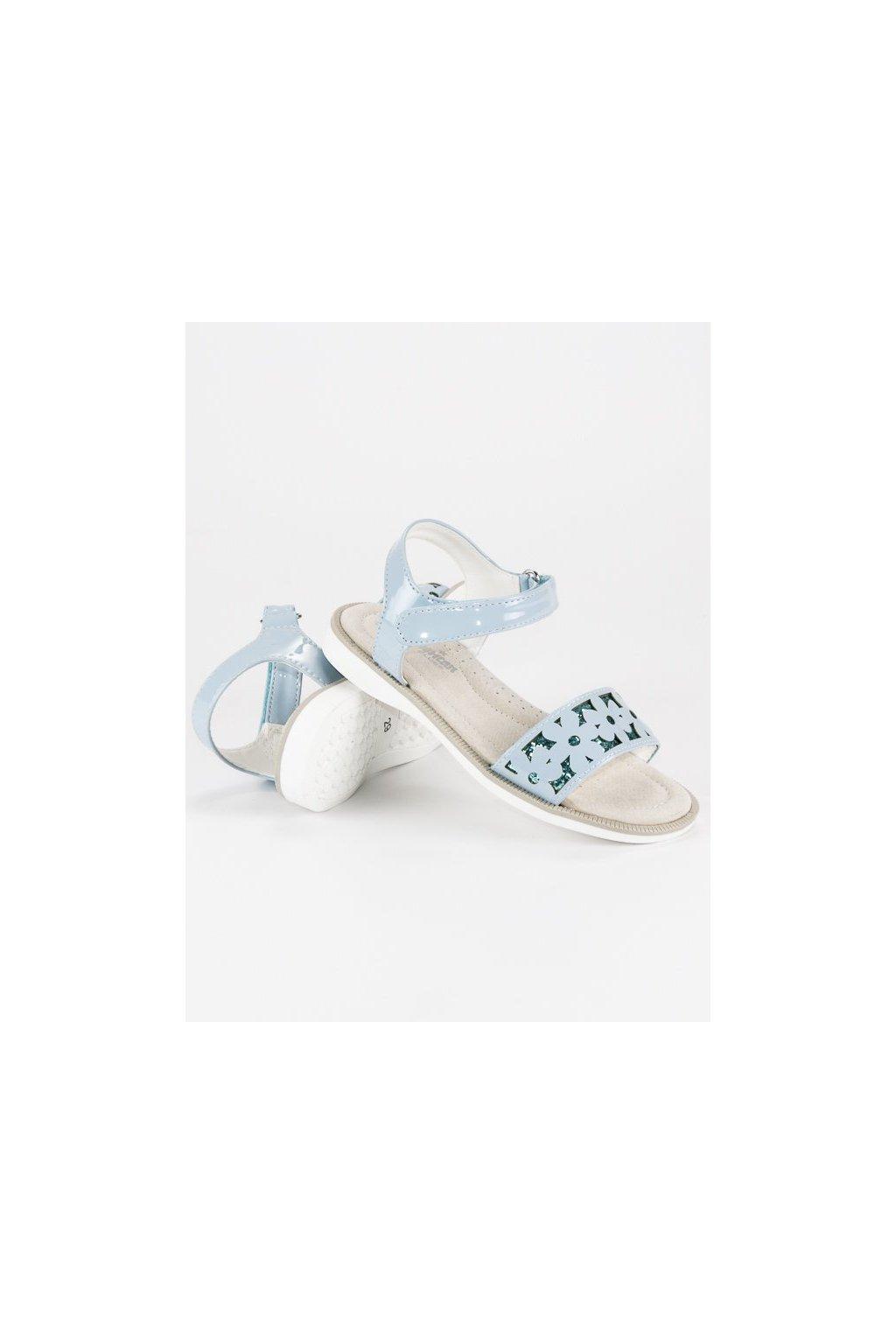 Modré detské sandále NJSK G-D11201B-A1LT.BL