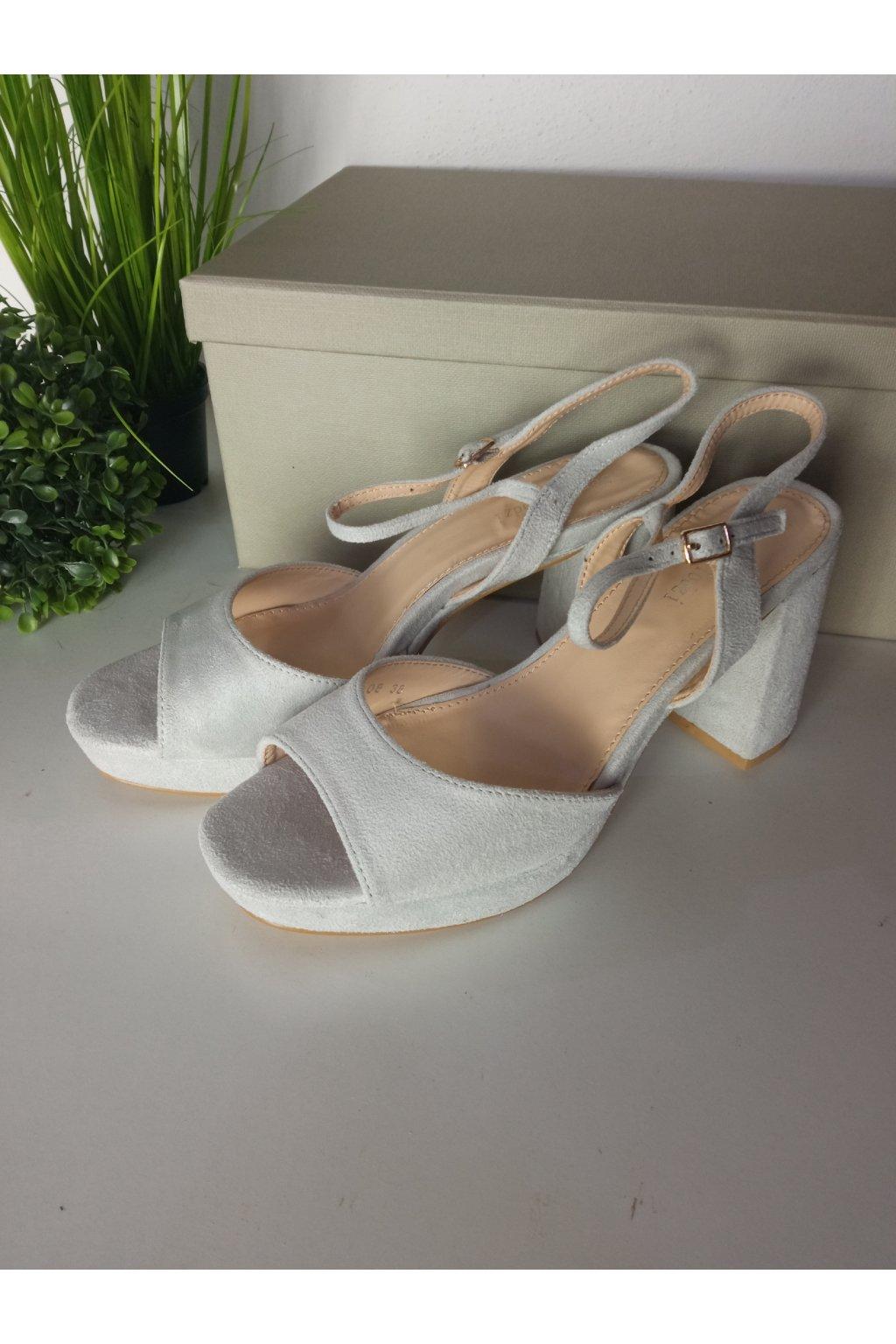 Sivé sandále NJSK J108G