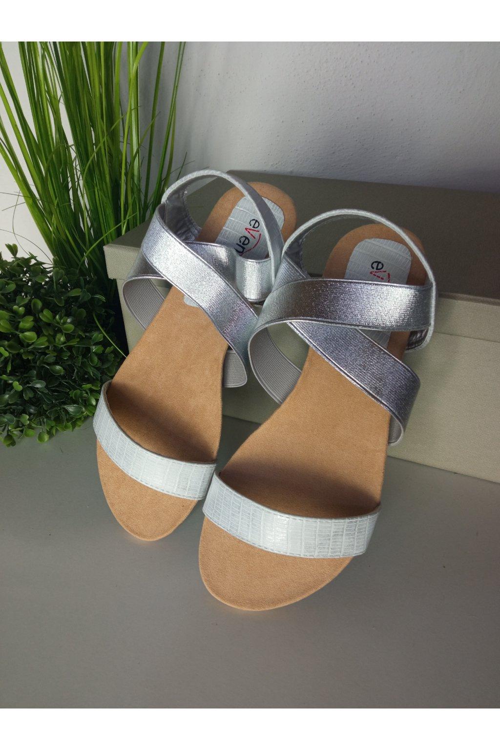 Sivé sandále  NJSK 8SD77-2332