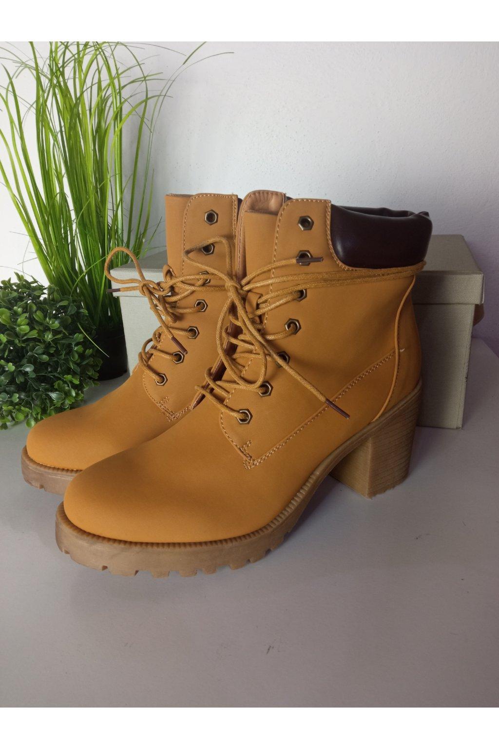 Hnedé topánky NJSK MQ1860C/S3-11P