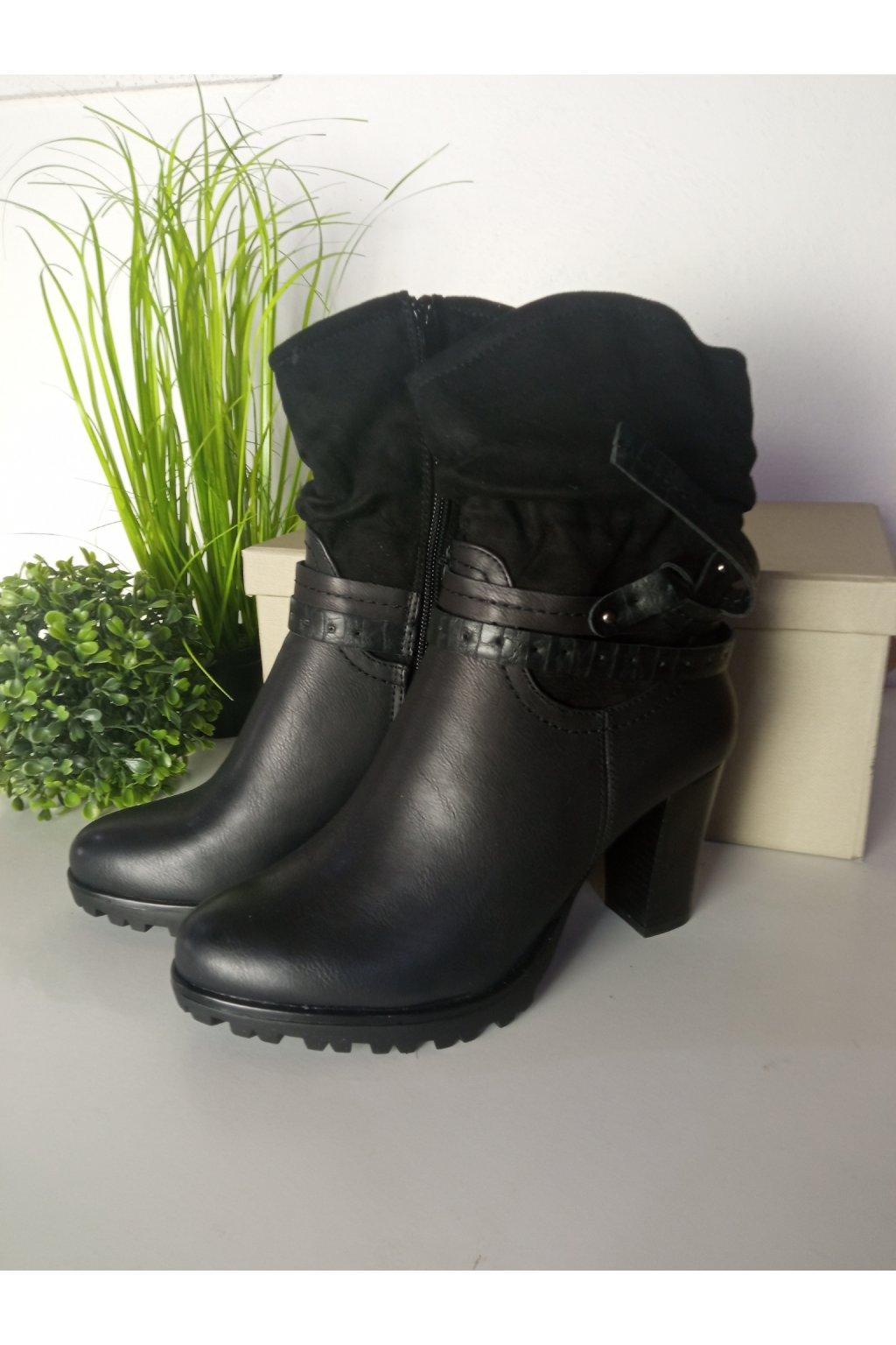 Čierne topánky NJSK 964GA-B