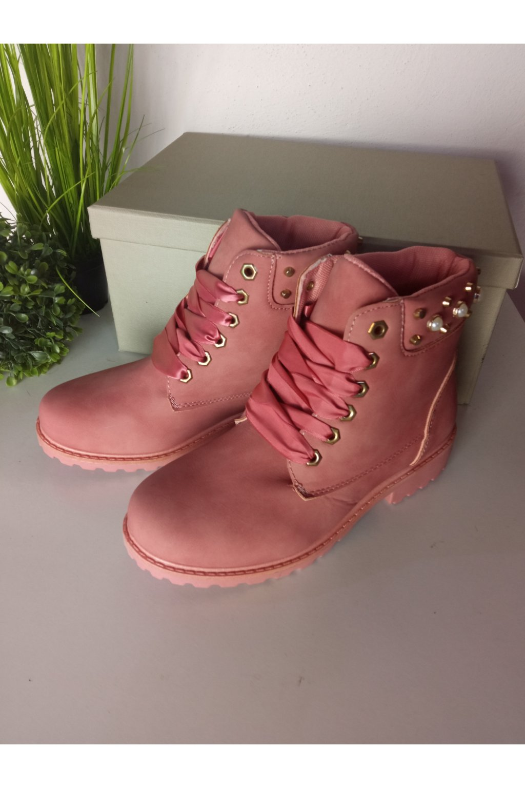 Ružové traperky NJSK DTR604/18P