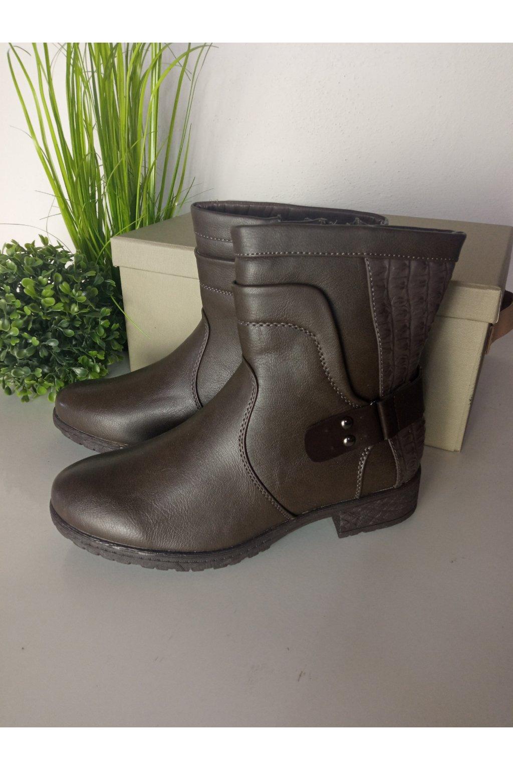 Hnedé topánky NJSK H355G/S3-46P