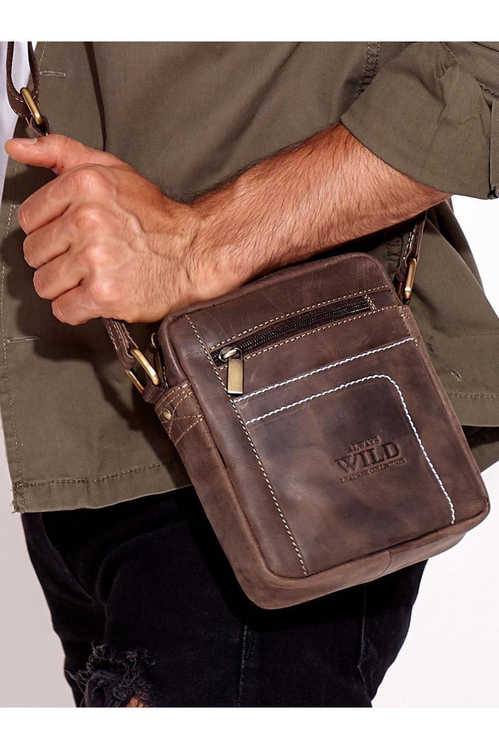 Pánska kabelka tmavo-hnedá kód CE-TR-250840-MH.77
