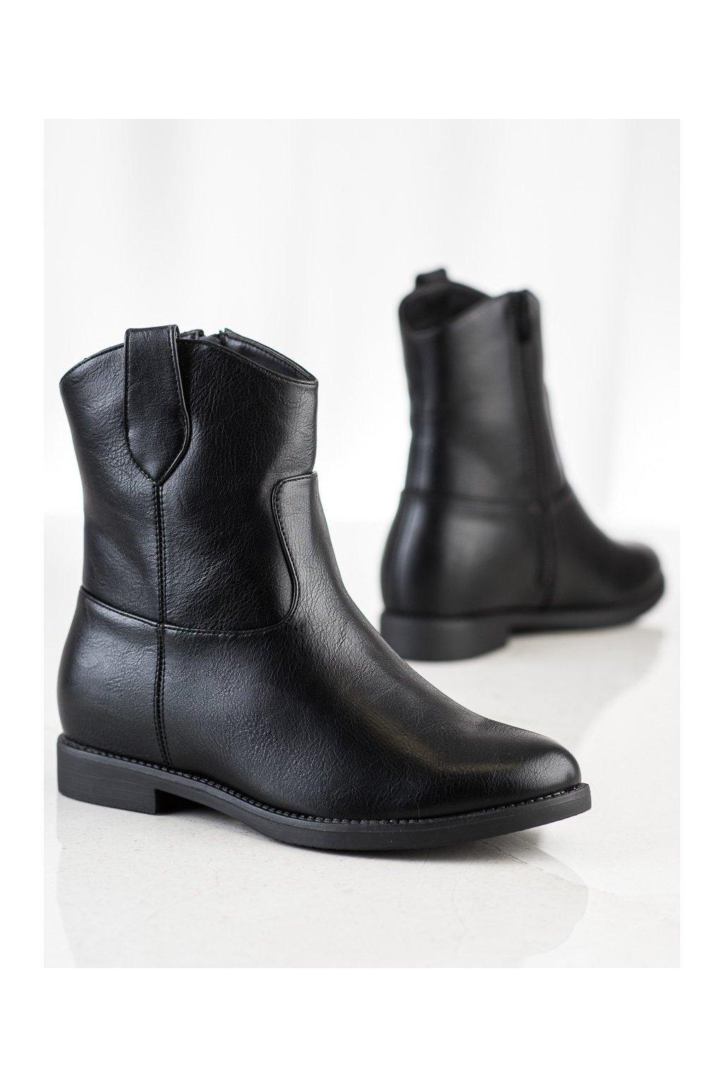 Čierne dámske topánky NJSK A8302B