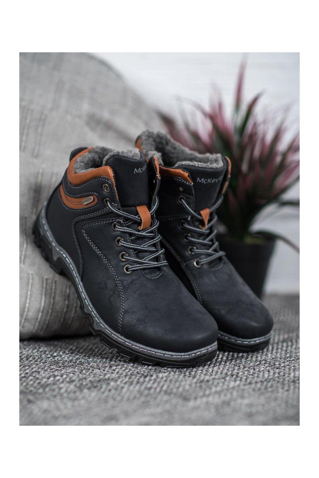 Fialové dámske trekové topánky Mckeylor kod OCA20-2156N