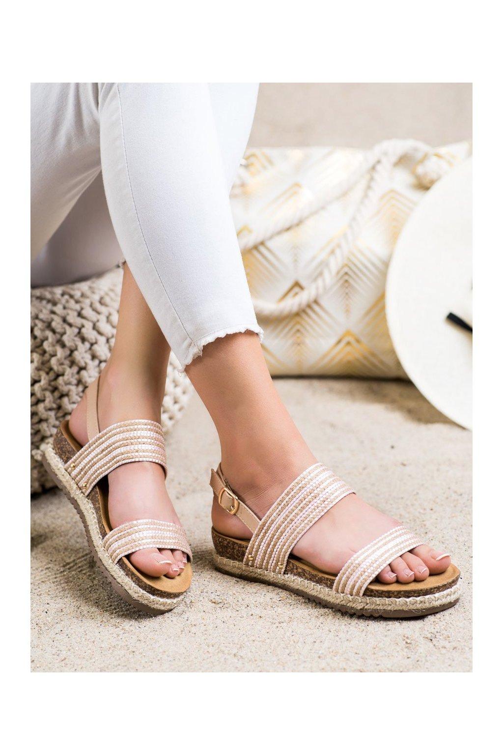 Ružové dámske sandále Shelovet kod FD-50P