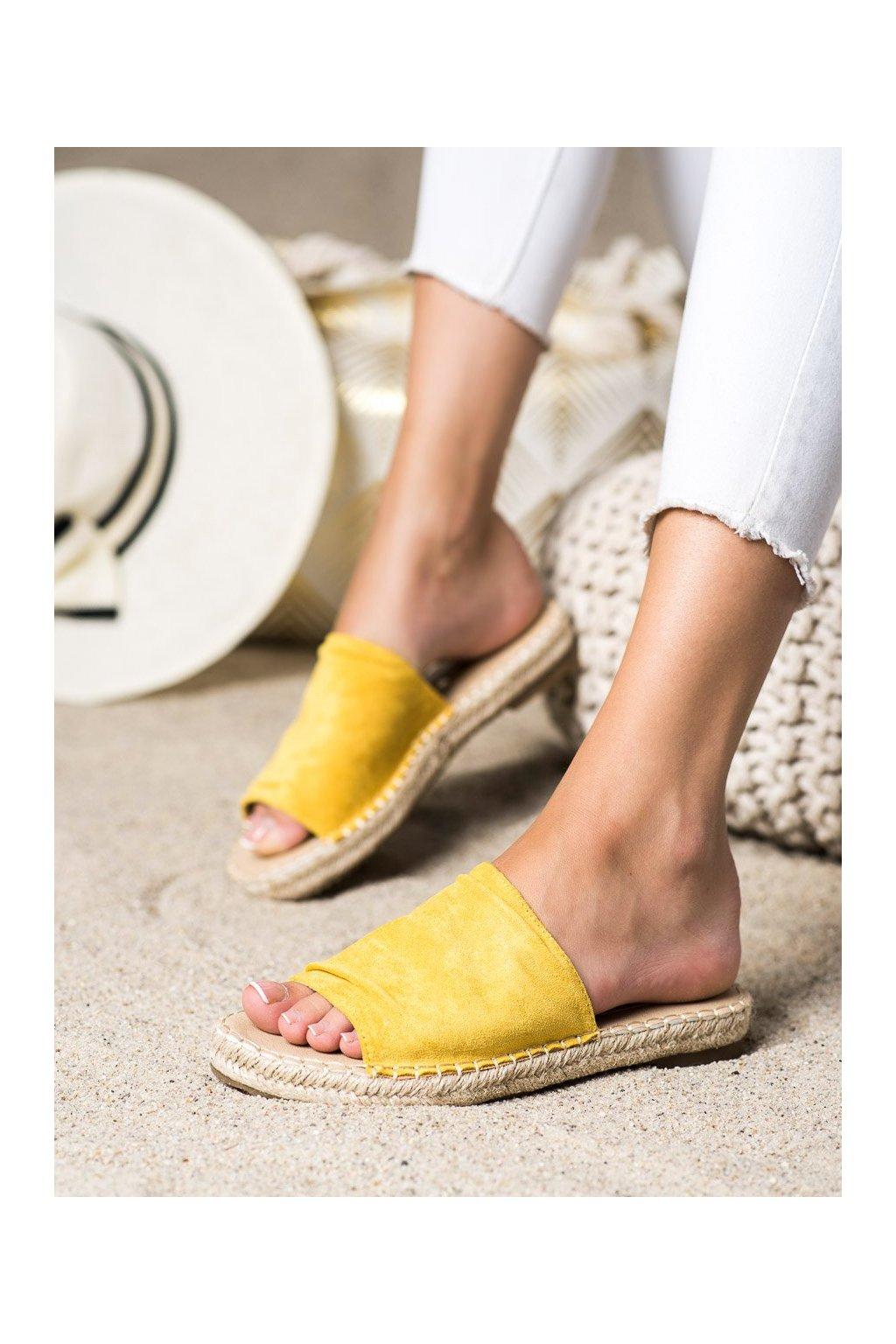 Žlté dámske šľapky Shelovet kod LX203Y