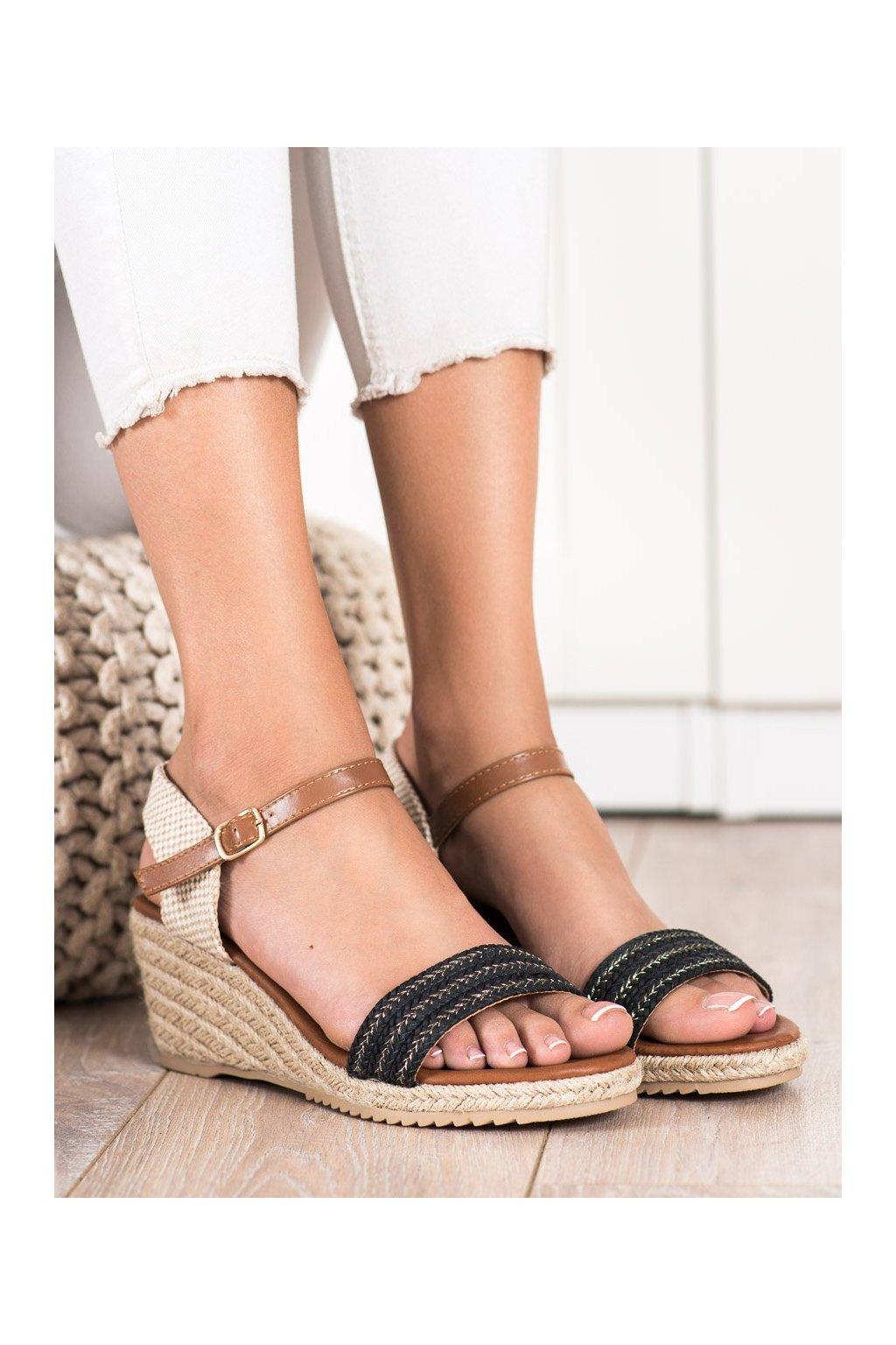 Čierne dámske sandále Shelovet kod H086NE