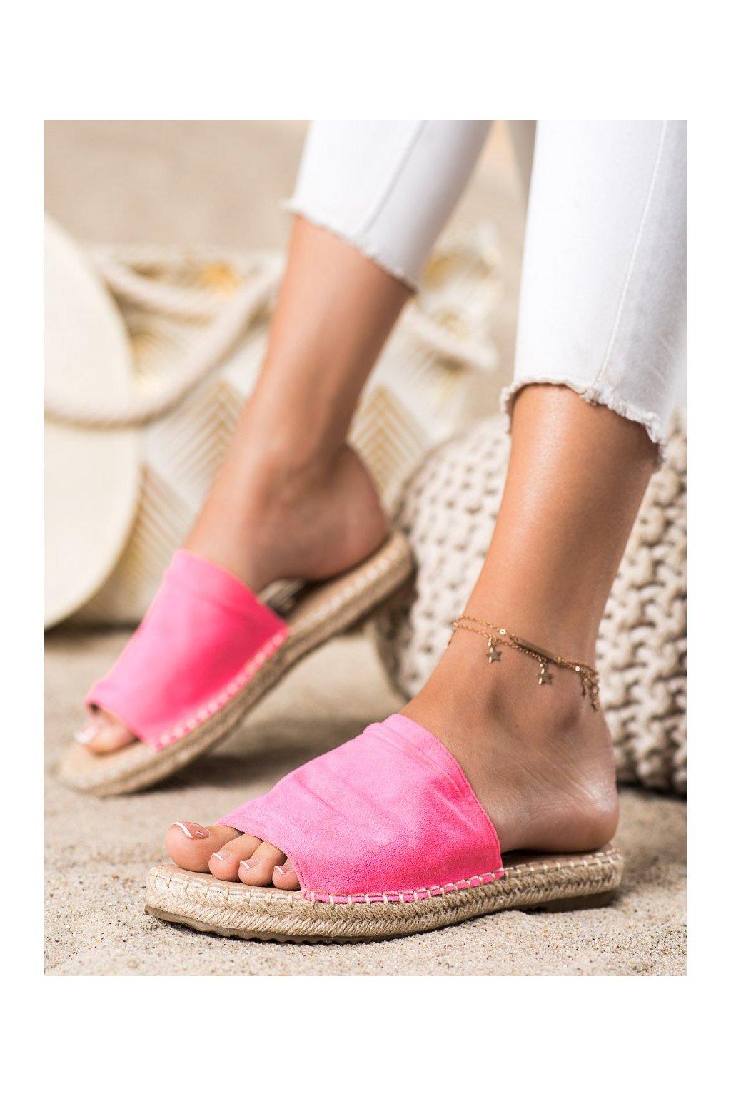 Ružové dámske šľapky Shelovet kod LX203FU