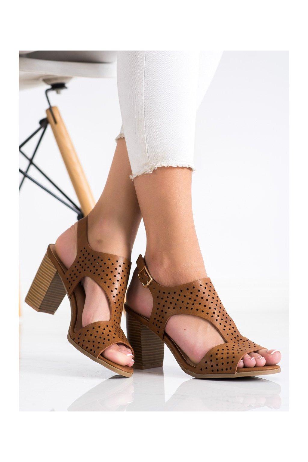 Hnedé dámske sandále Renda kod S-886C