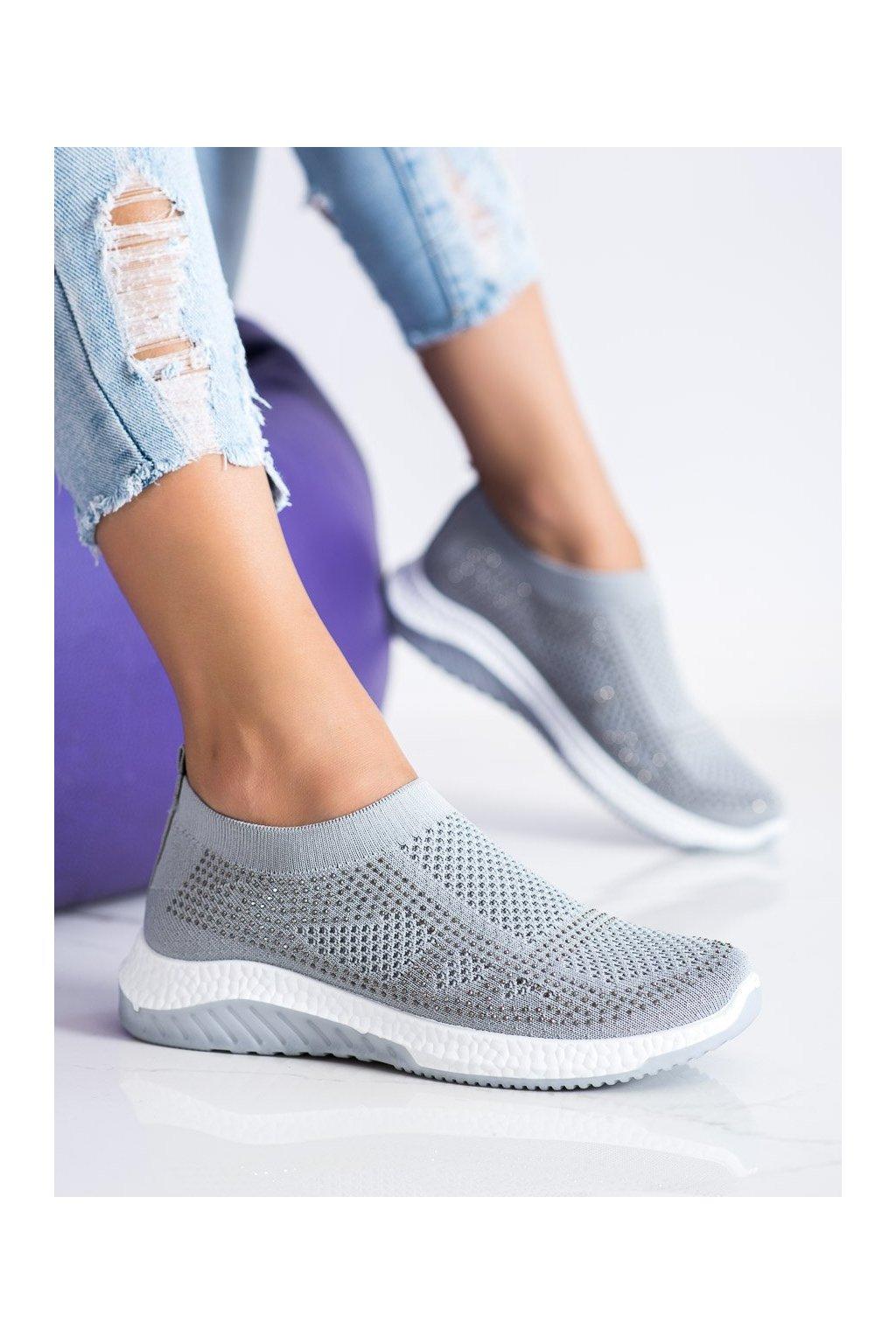Sivé dámske tenisky Shelovet kod 2019-2G