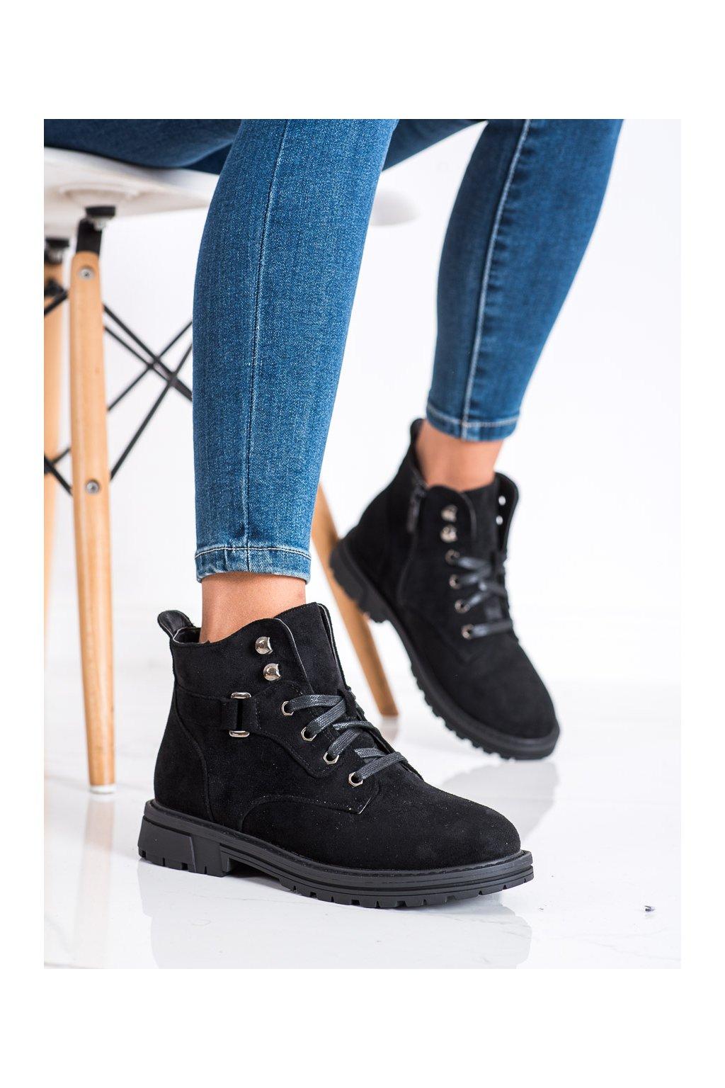 Čierne dámske topánky Shelovet kod F5079B
