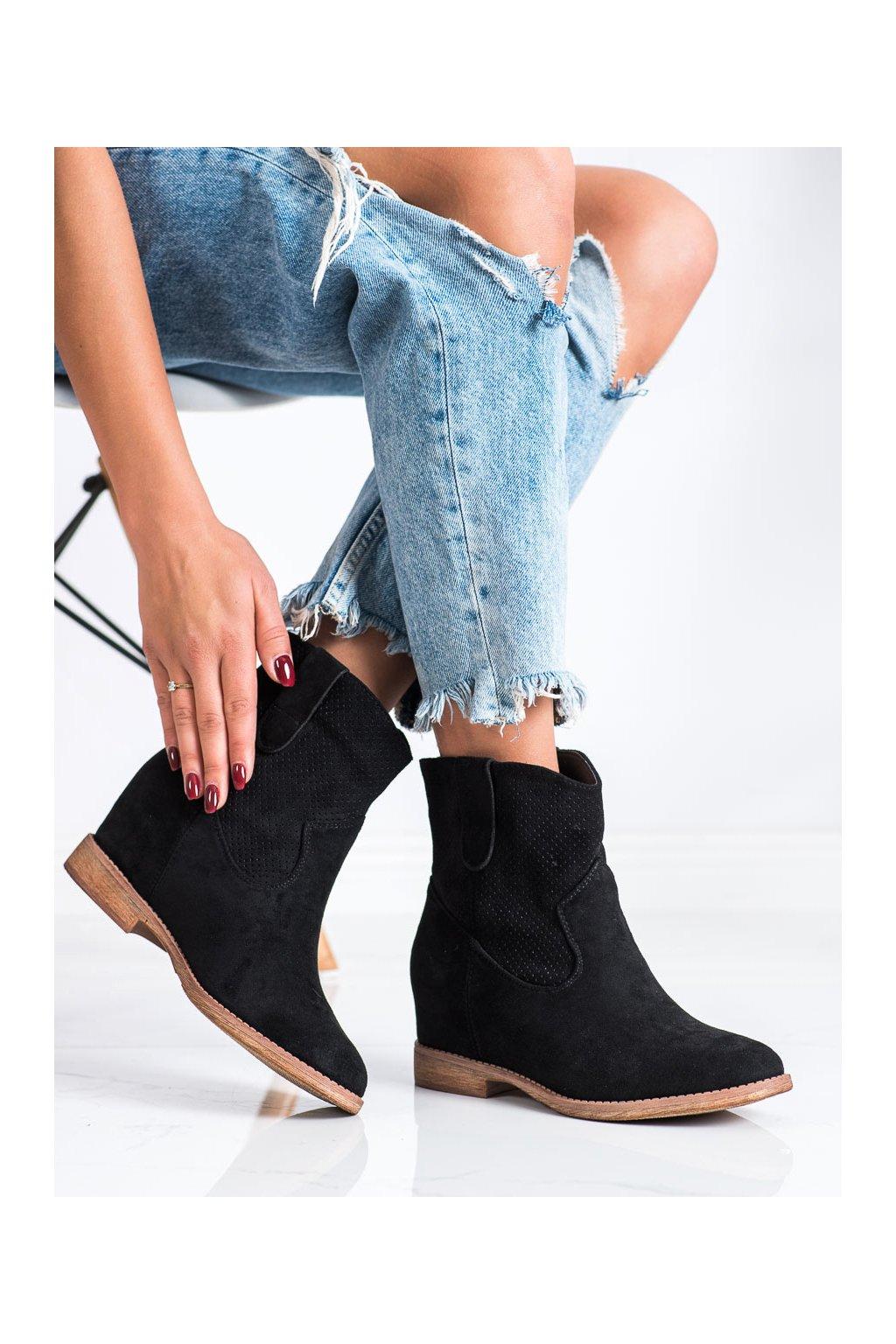 Čierne dámske topánky Shelovet kod RQ537B