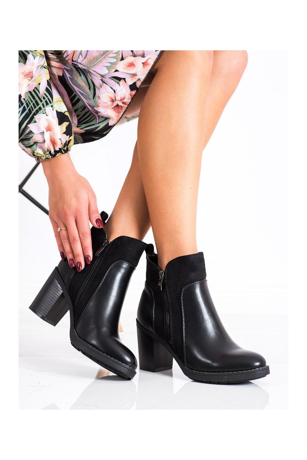 Čierne dámske topánky Diamantique kod YL54B