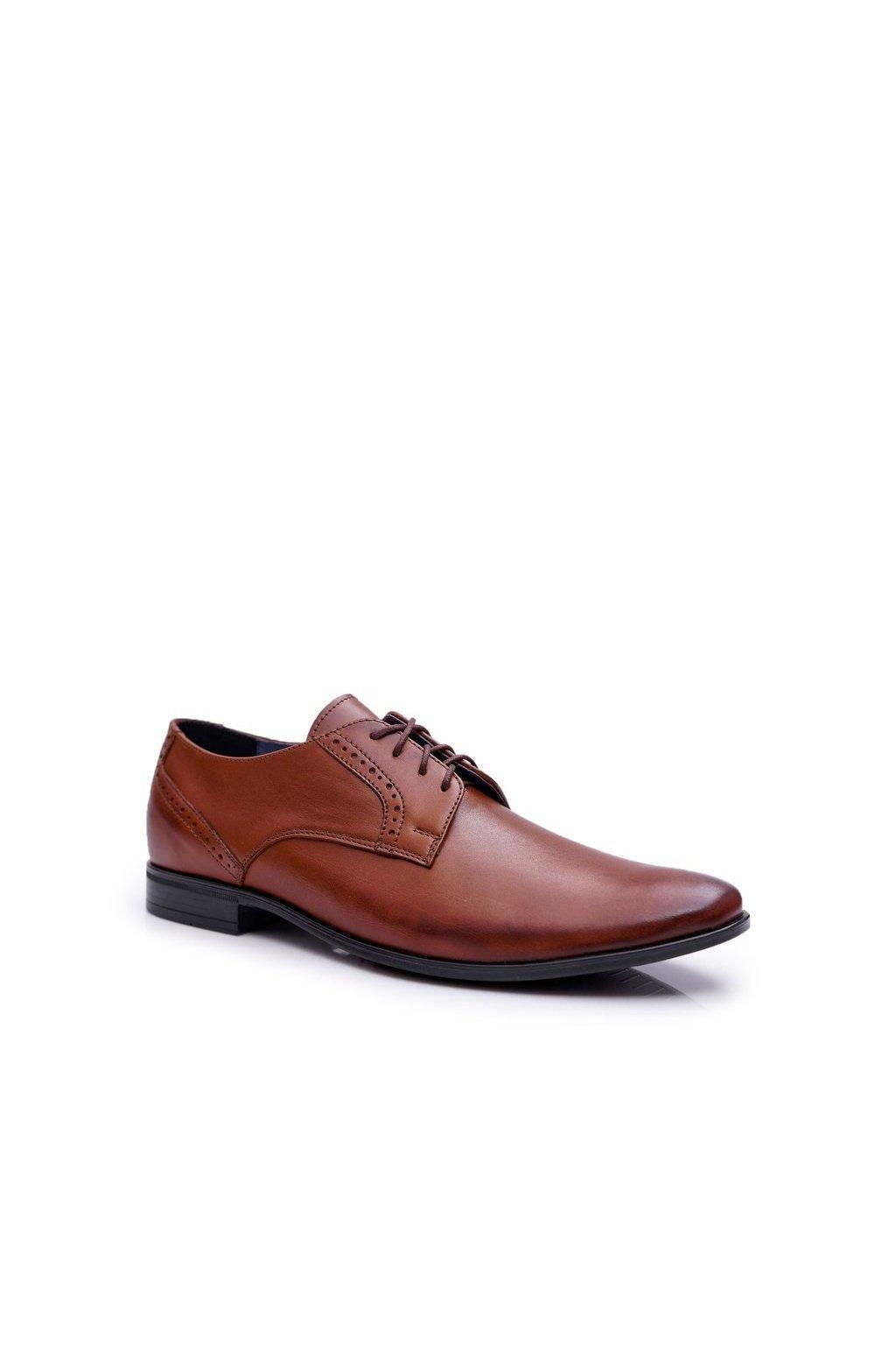 Pánske poltopánky farba hnedá kód obuvi 685 J.BRĄZ