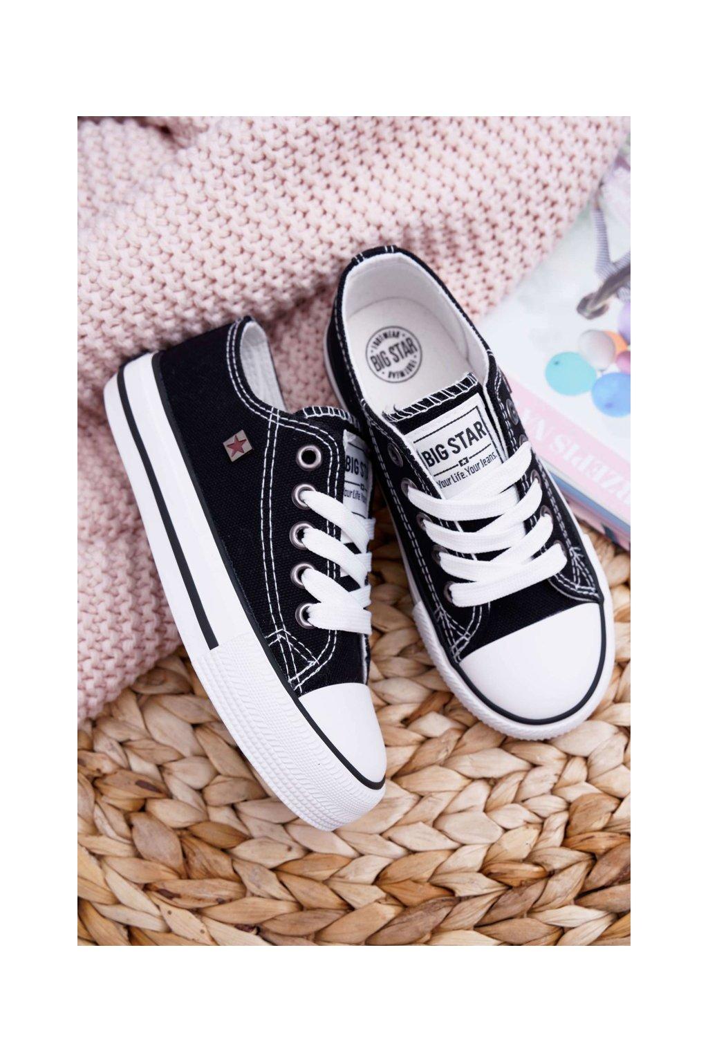 Detské tenisky farba čierna kód obuvi FF374206 BLK