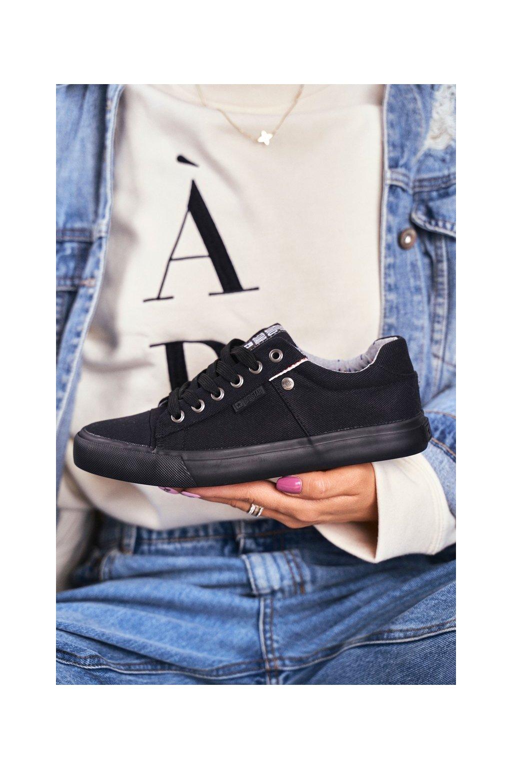 Dámske tenisky farba čierna kód obuvi AA274513 BLK