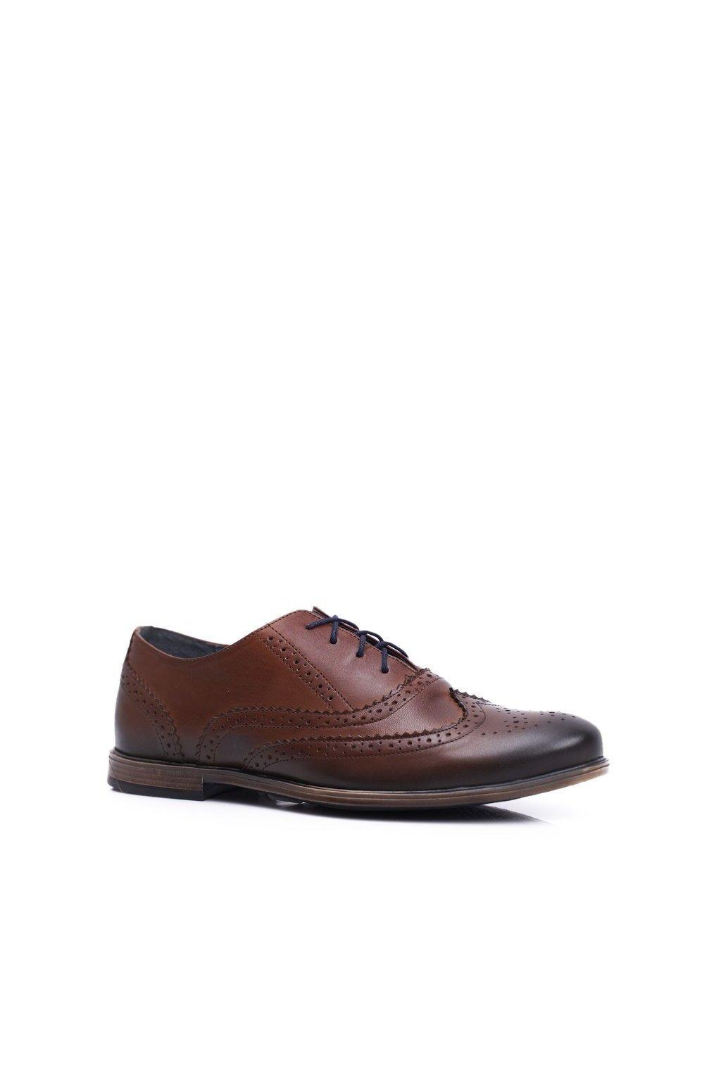Pánske poltopánky farba hnedá kód obuvi 1733 BROWN BC.17