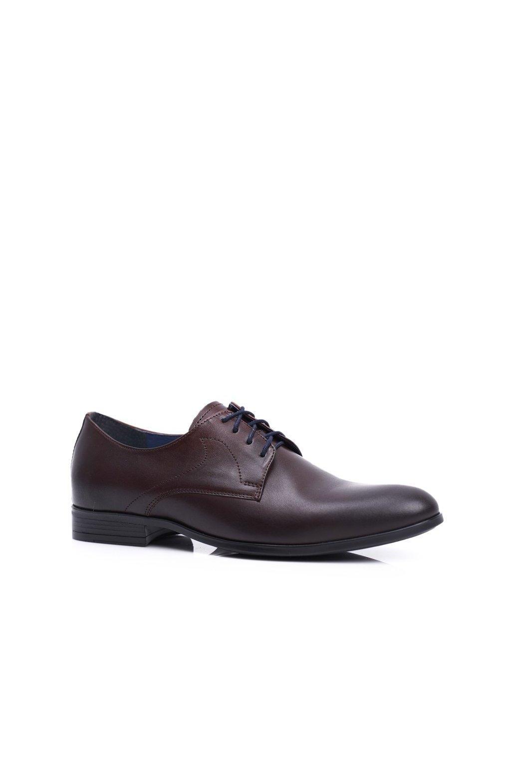 Pánske poltopánky farba hnedá kód obuvi 1735 D.BROWN BC.27