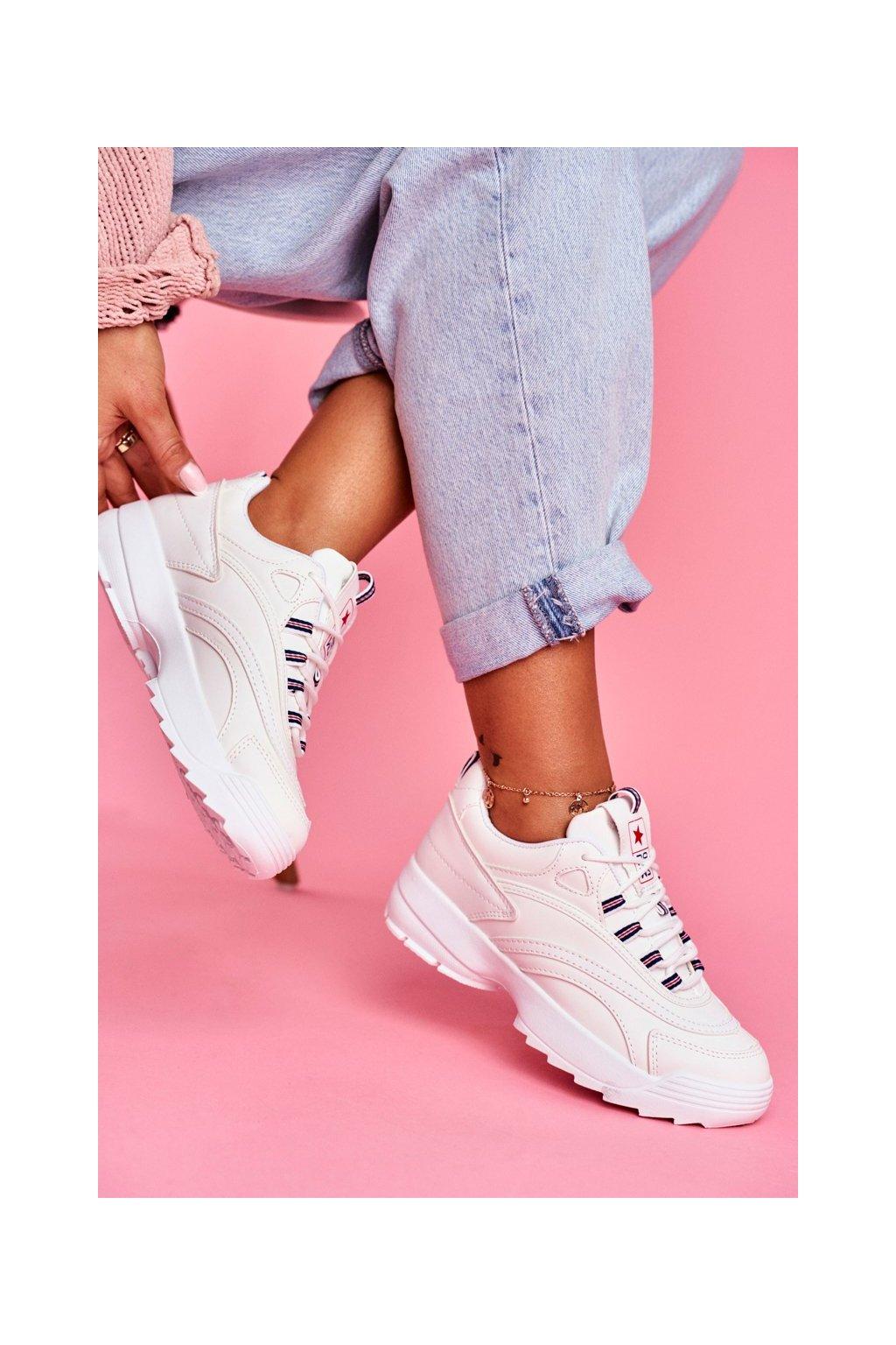 Dámske tenisky farba biela kód obuvi 20SP30-1679 WHITE
