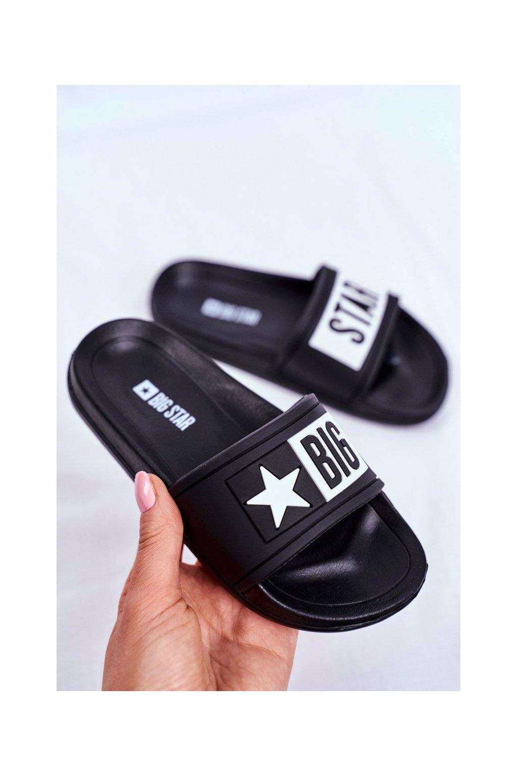 Detské šľapky farba čierna kód obuvi DD374150 BLK