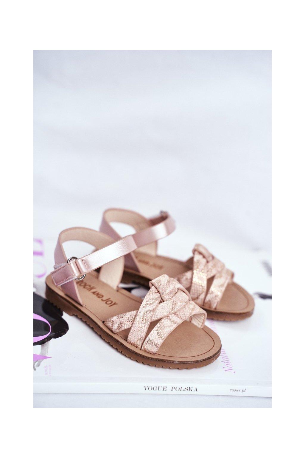Detské sandále farba ružová kód obuvi 260-B PINK