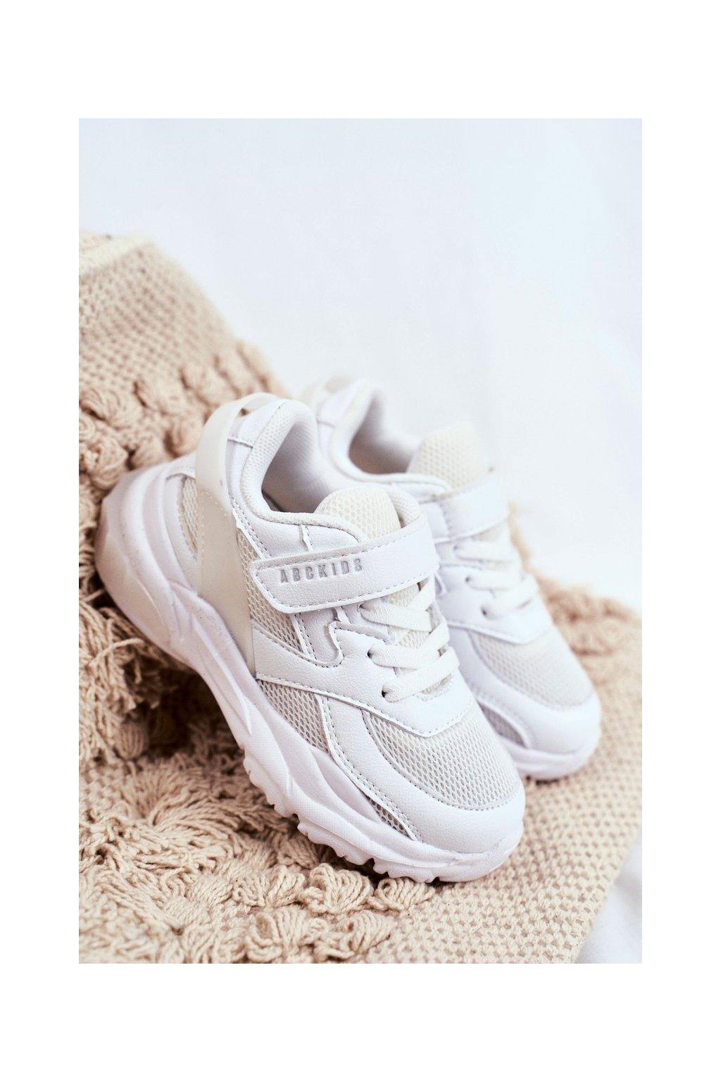 Detské tenisky farba biela kód obuvi B933204077 WHITE