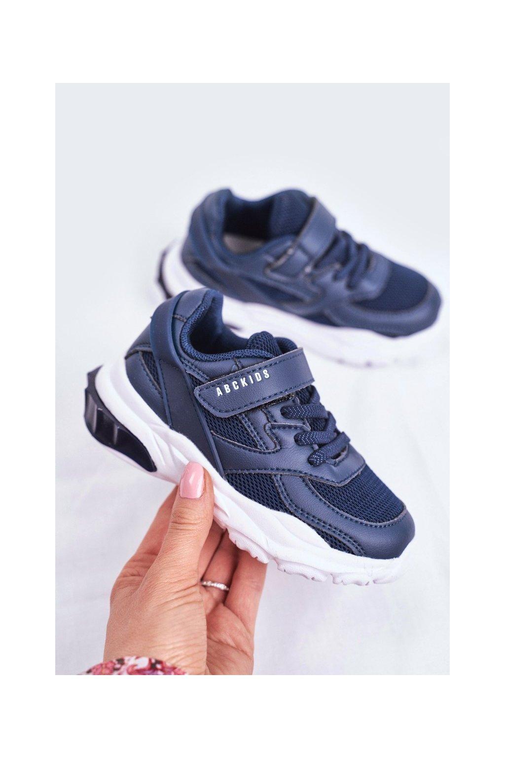 Detské tenisky farba modrá kód obuvi B933204077 NAVY
