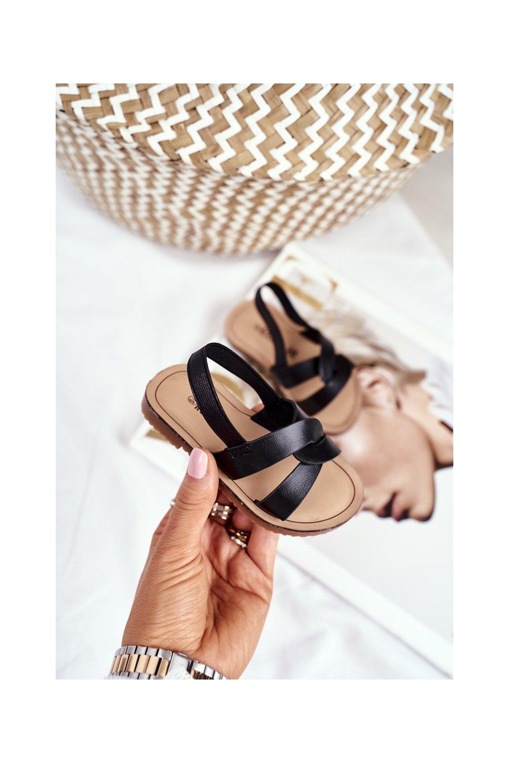Detské sandále farba čierna kód obuvi 269-A BLK