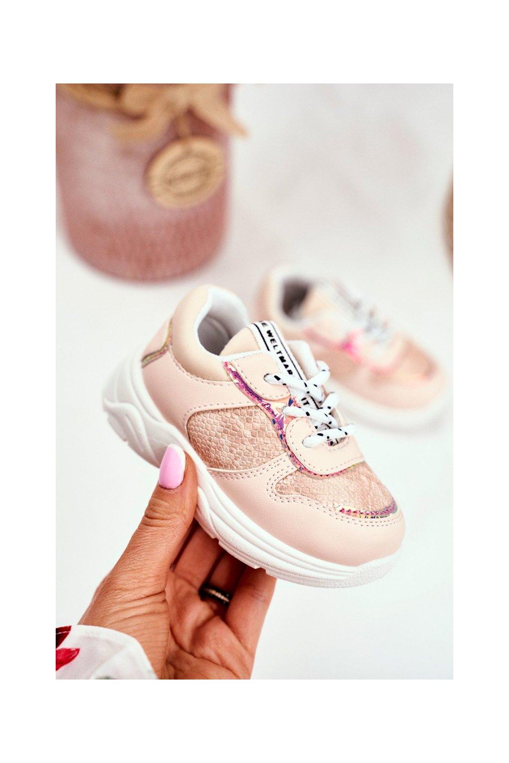 Detské tenisky farba ružová kód obuvi 899-B PINK