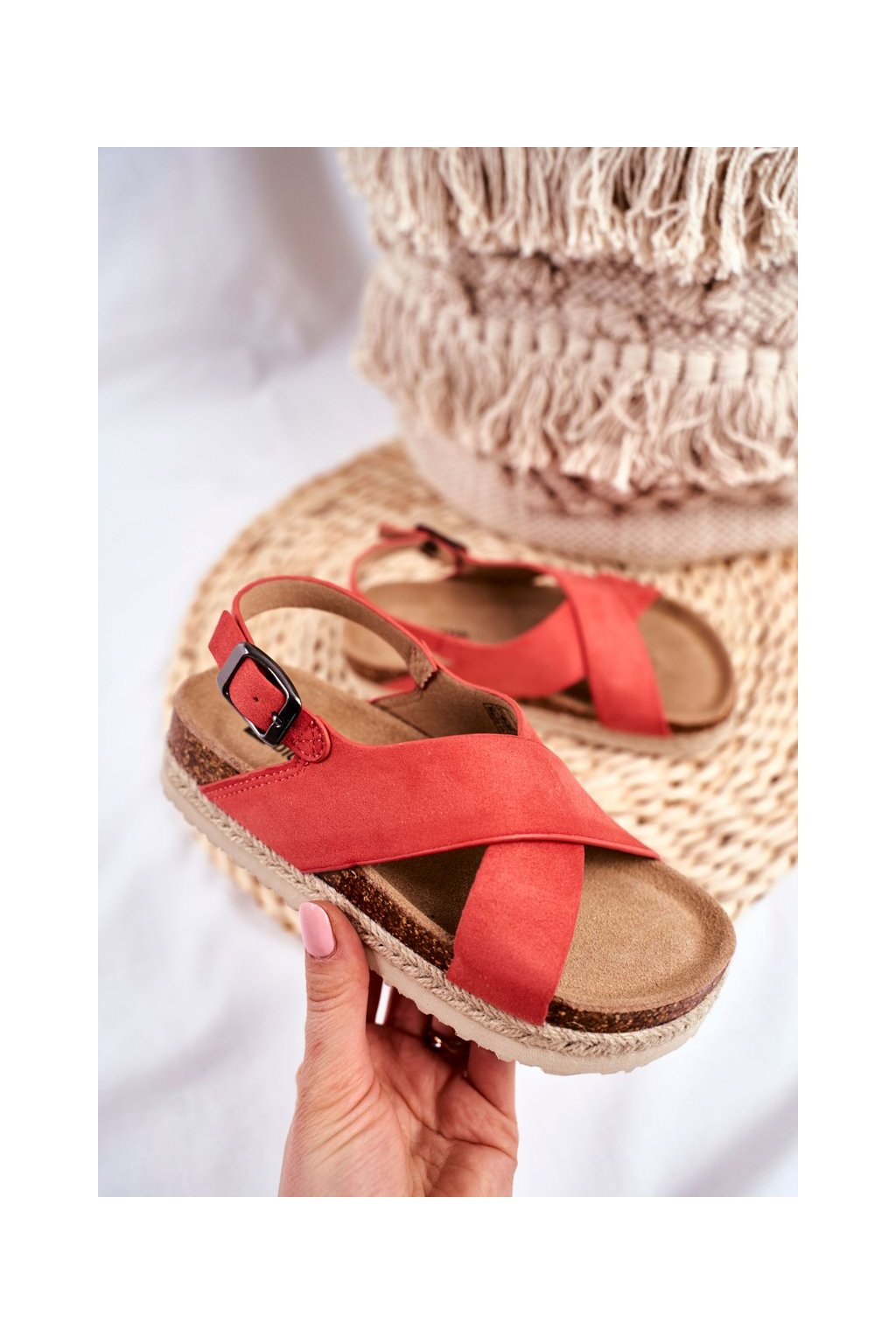 Detské sandále farba ružová kód obuvi FF374171 CORAL