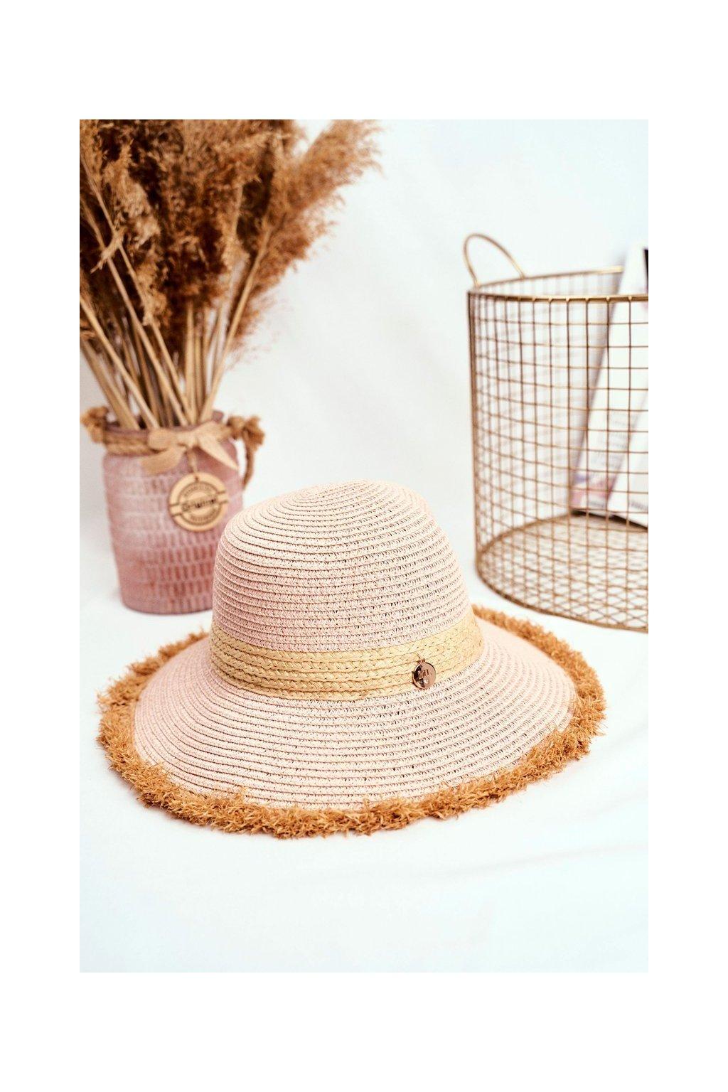 Dámsky letný klobúk kód KAP-282 PINK