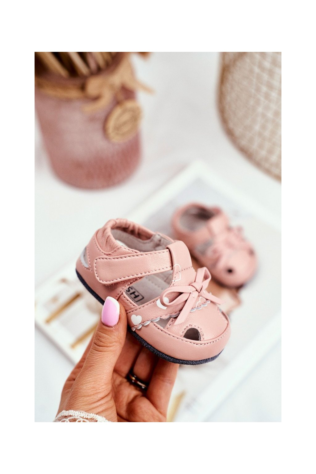 Detské sandále farba ružová kód obuvi IC32 PINK