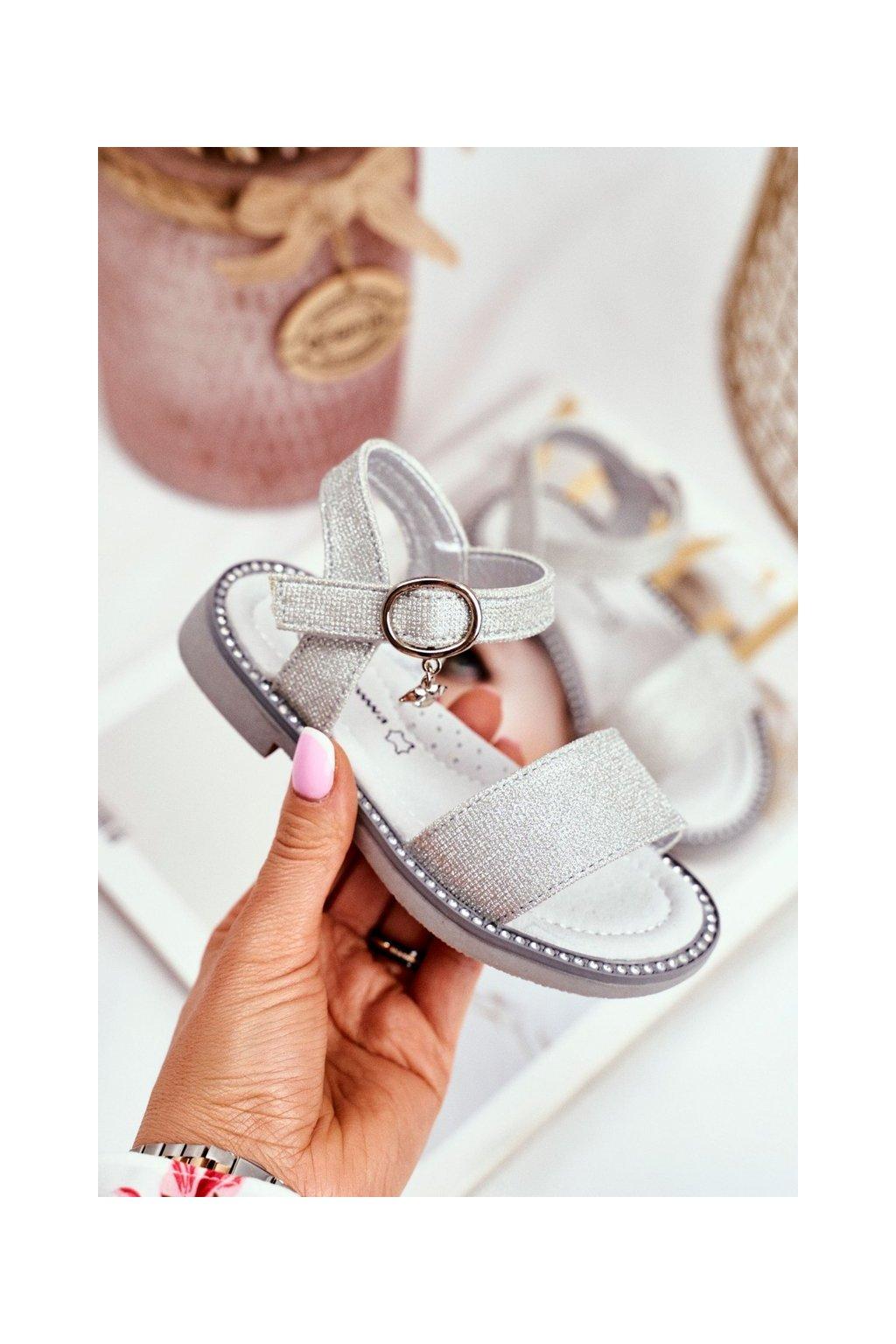 Detské sandále farba sivá kód obuvi GX174-GX175 SILVER
