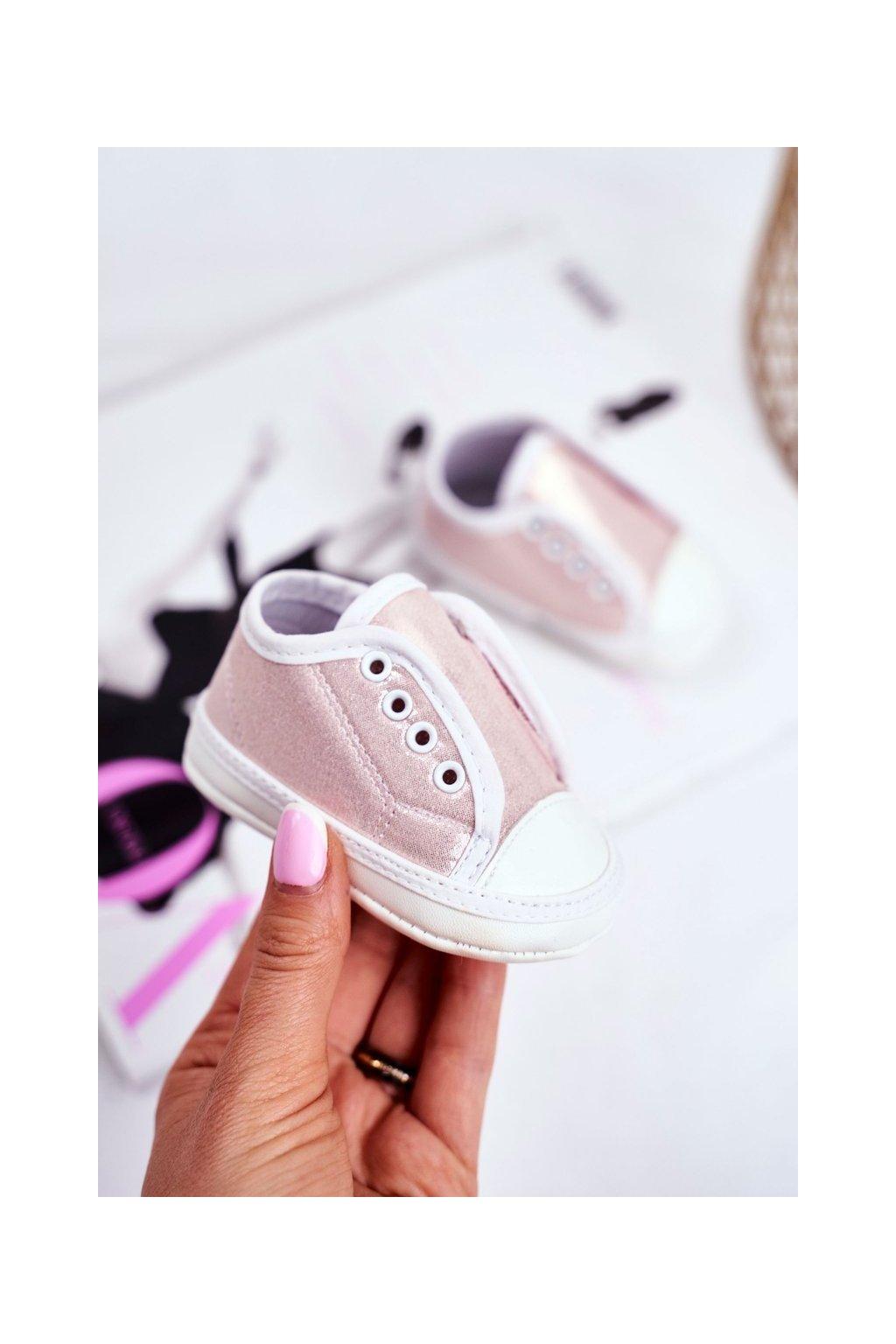 Detské balerínky farba ružová kód obuvi YC185 PINK