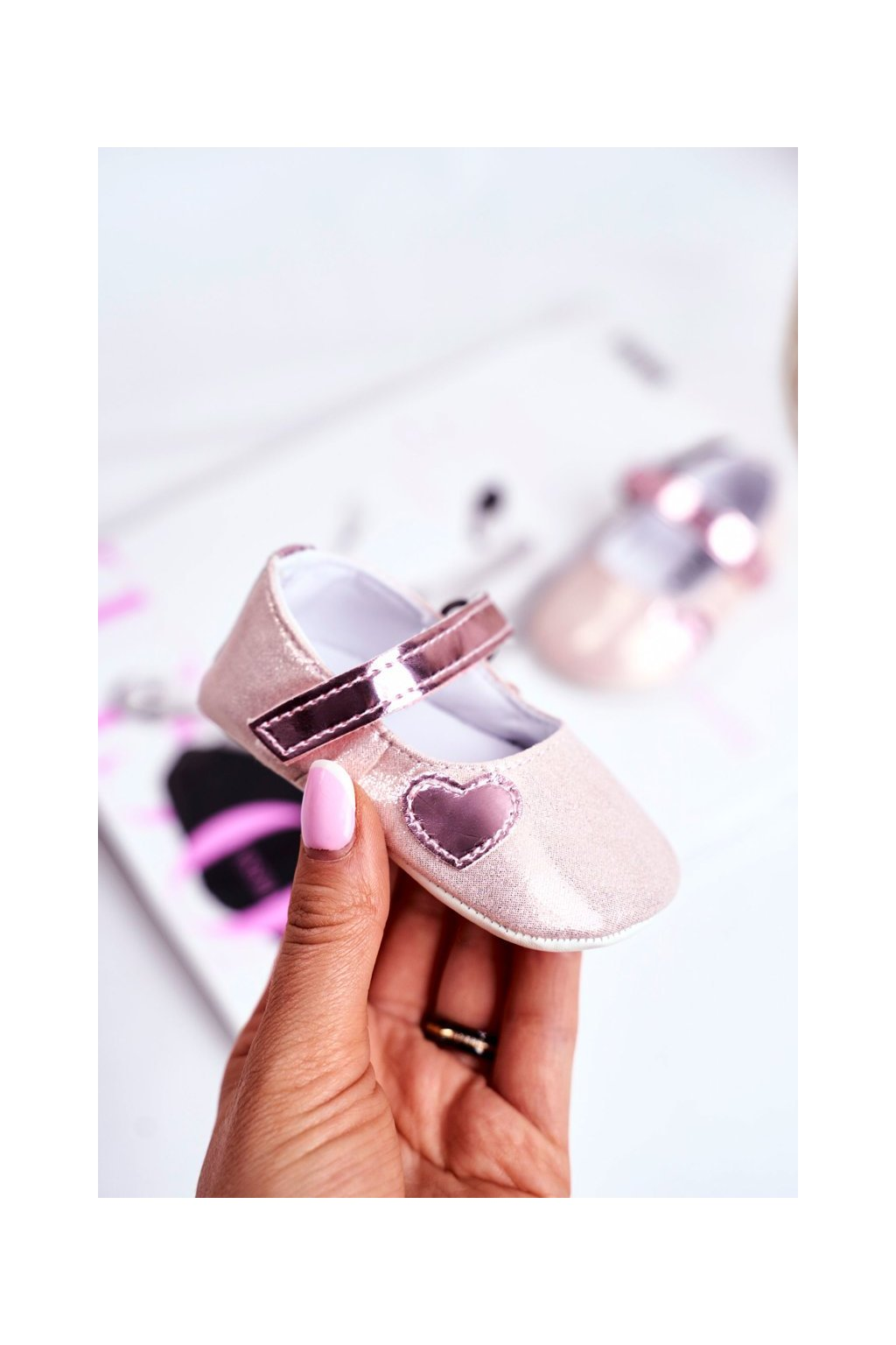 Detské balerínky farba ružová kód obuvi YC187 PINK