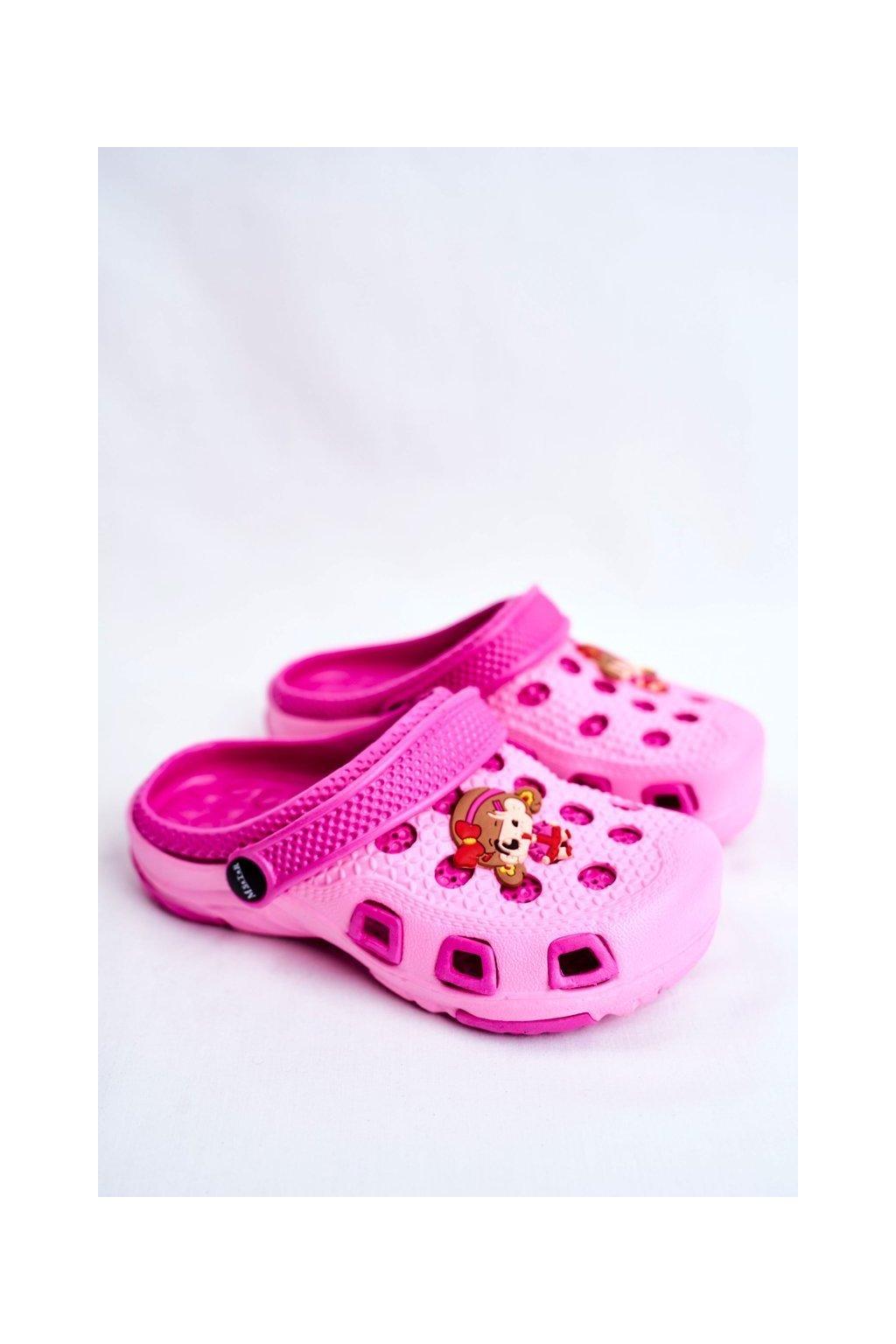 Detské šľapky farba ružová kód obuvi S1508 C1508 PINK