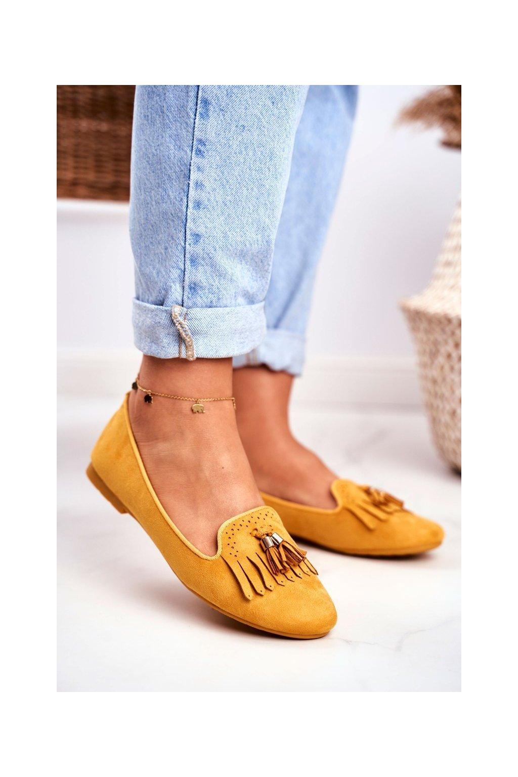 Dámske mokasíny farba žltá kód obuvi FM051 YELLOW