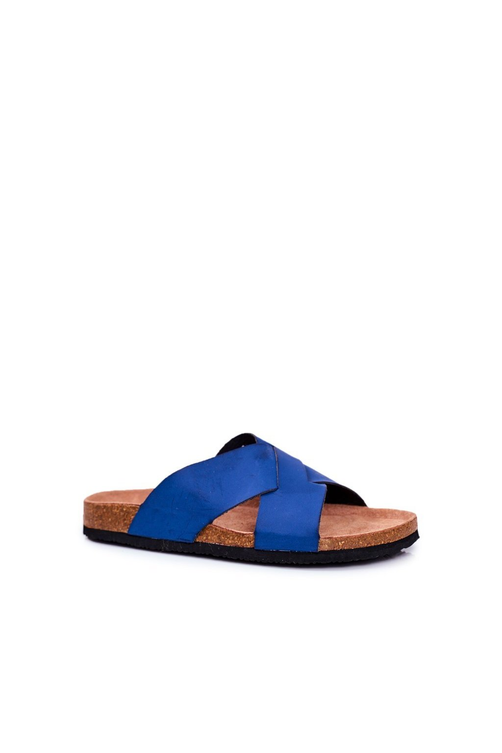 Pánske šľapky farba modrá kód obuvi DD174602 NAVY