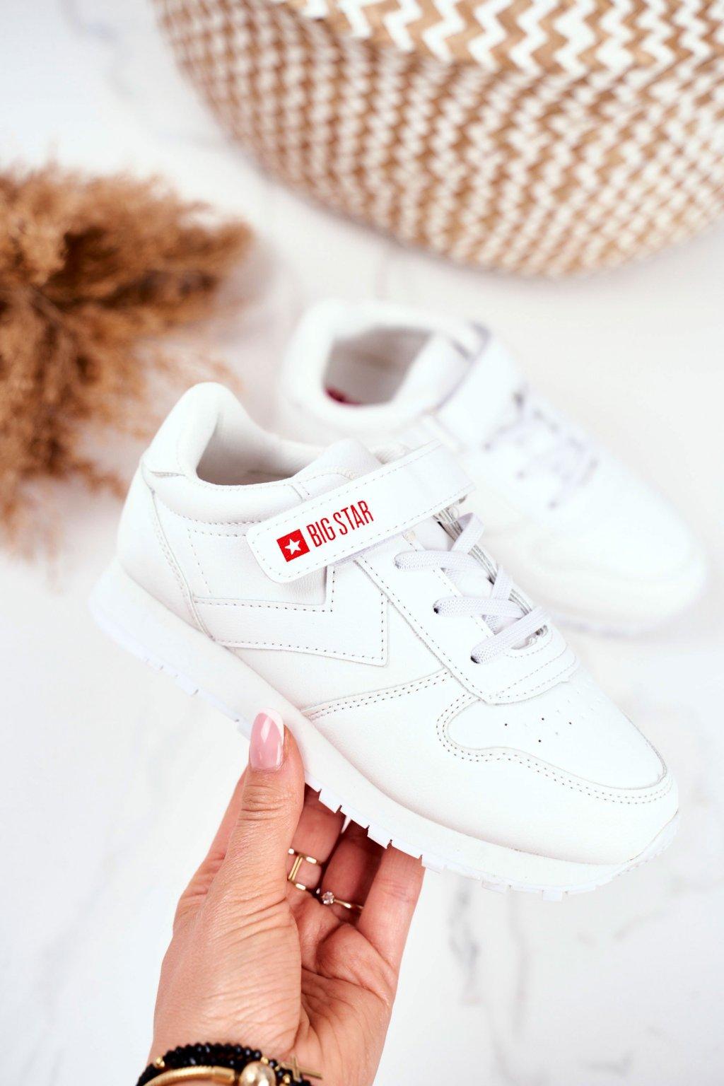Detské tenisky farba biela kód obuvi GG374057 WHITE