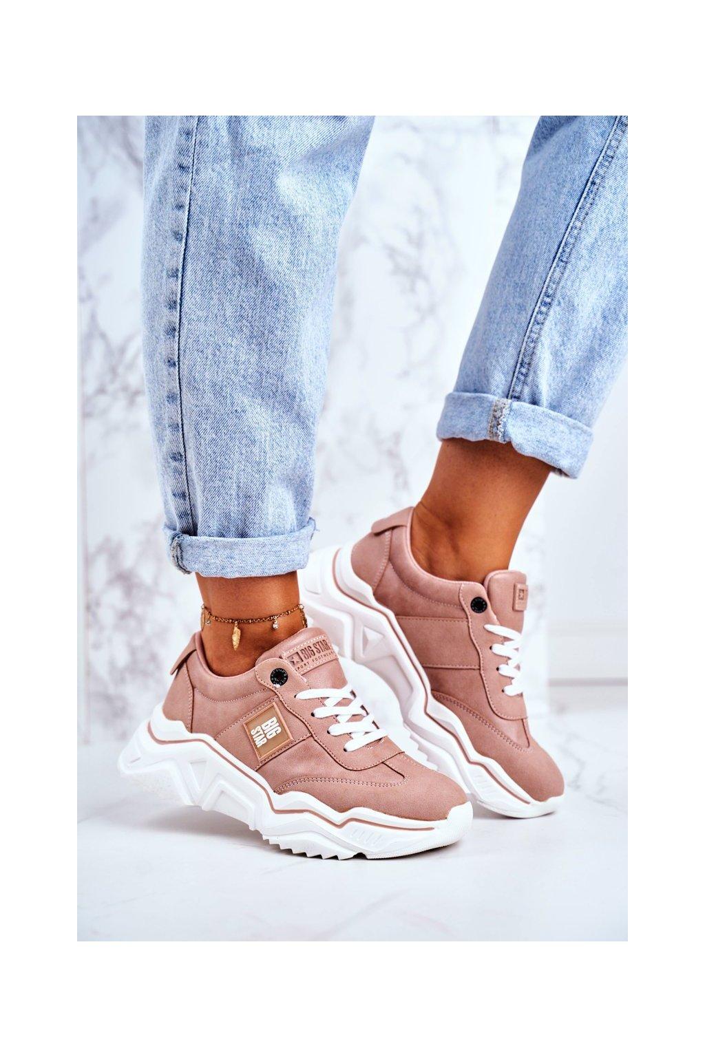 Dámske tenisky farba ružová kód obuvi GG274210 LT.PINK