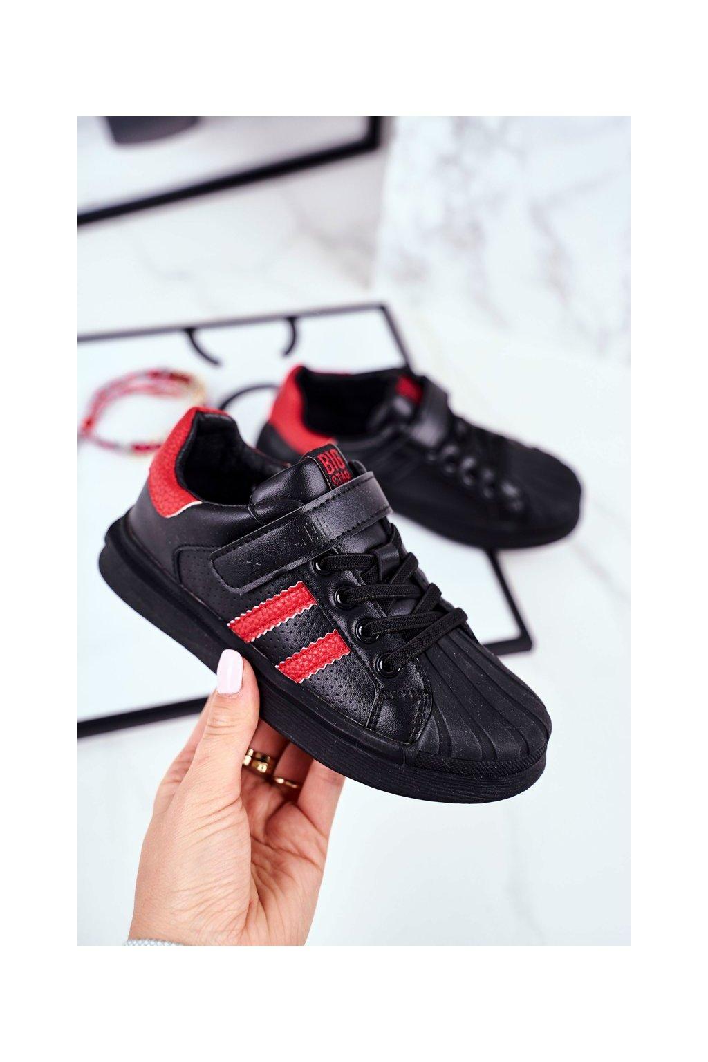 Detské tenisky farba čierna kód obuvi GG374022 BLK/RED