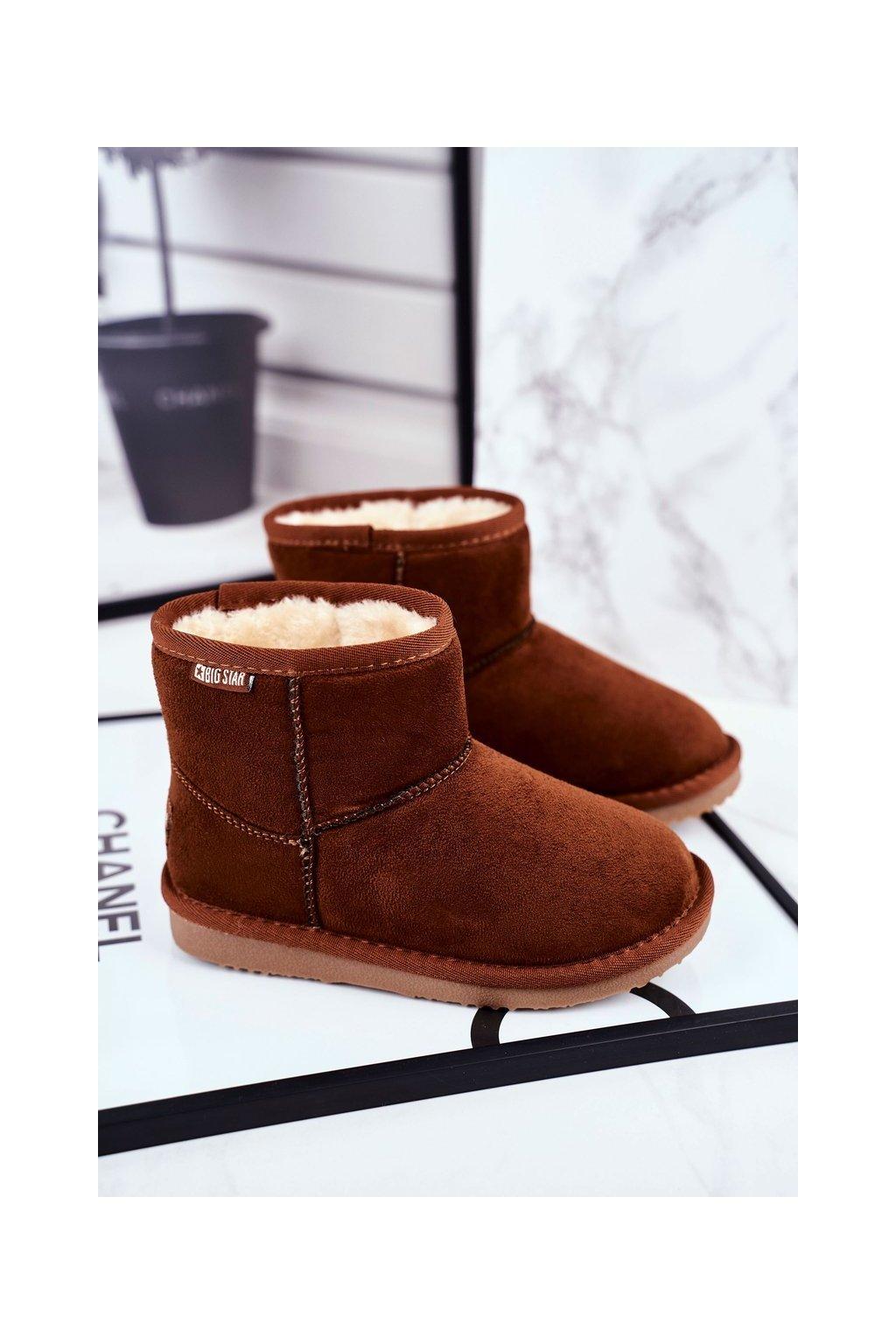 Detské snehule farba hnedá kód obuvi GG374082 CAMEL
