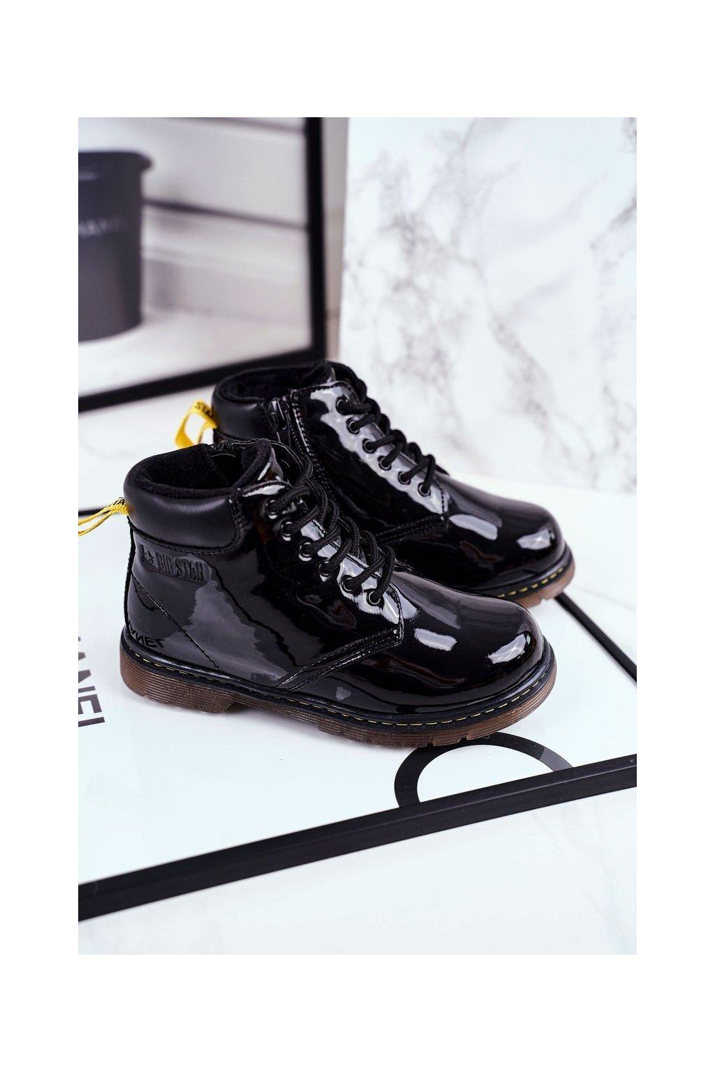 Detské členkové topánky farba čierna kód obuvi GG374075 BLK