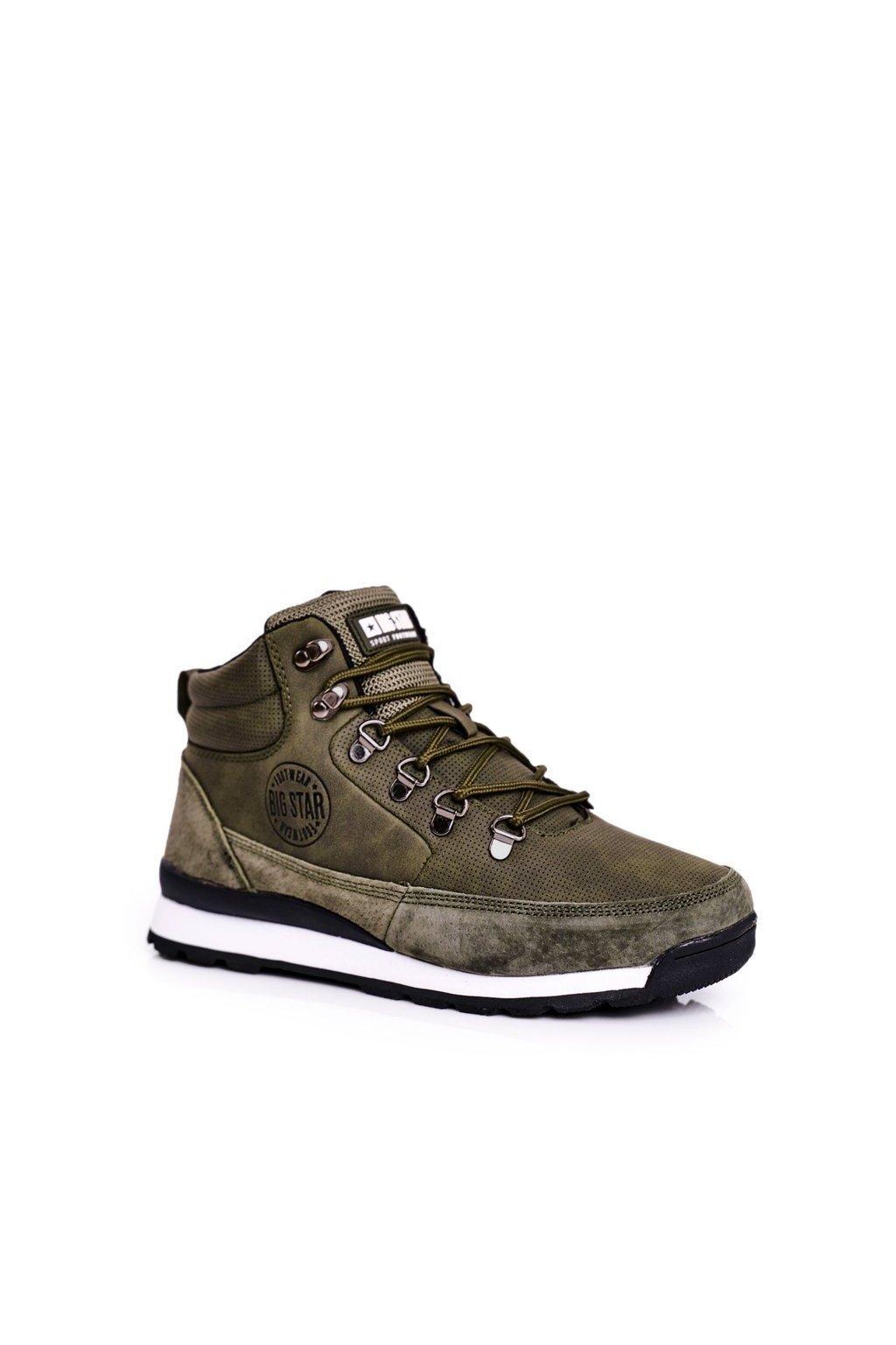 Dámske trekové topánky farba zelená kód obuvi GG274617 KHAKI