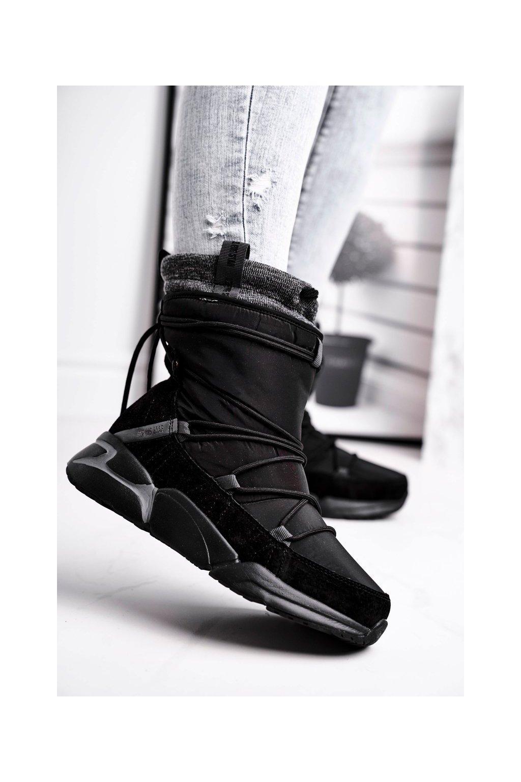 Dámske snehule farba čierna kód obuvi GG274628 BLK