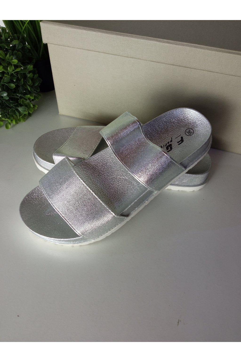 Strieborné sandále NJSK JS-5274S