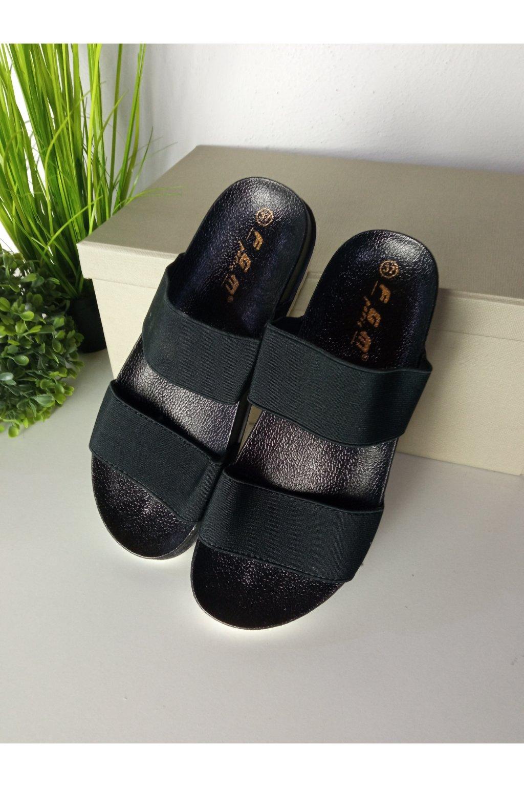 Čierne sandále NJSK JS-5274B