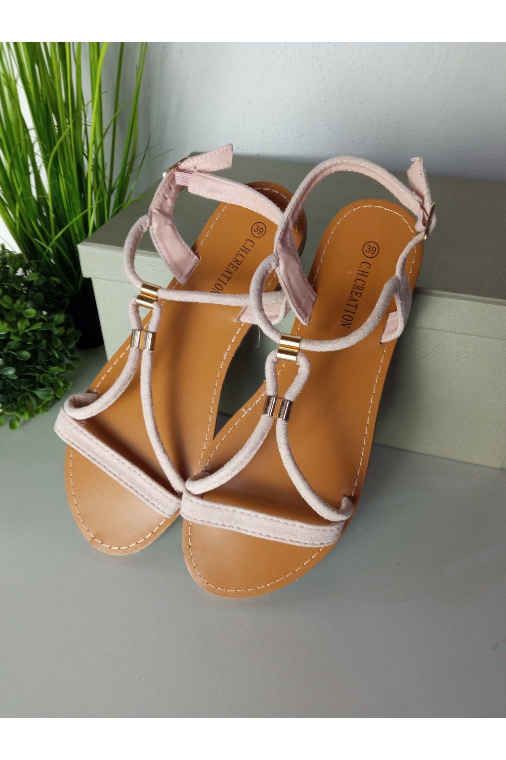 Béžové sandále NJSK L520